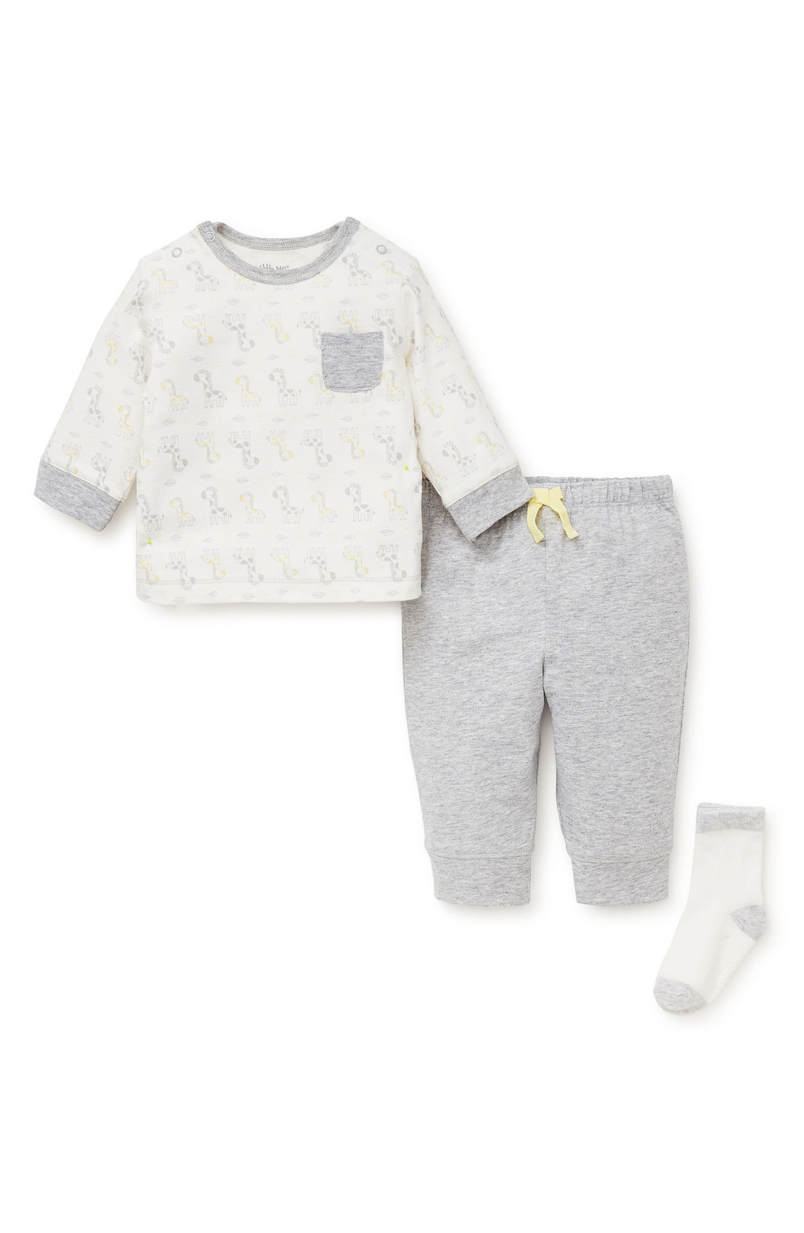 Giraffe T-Shirt, Jogger Pants & Socks Set,                             Alternate thumbnail 2, color,                             030