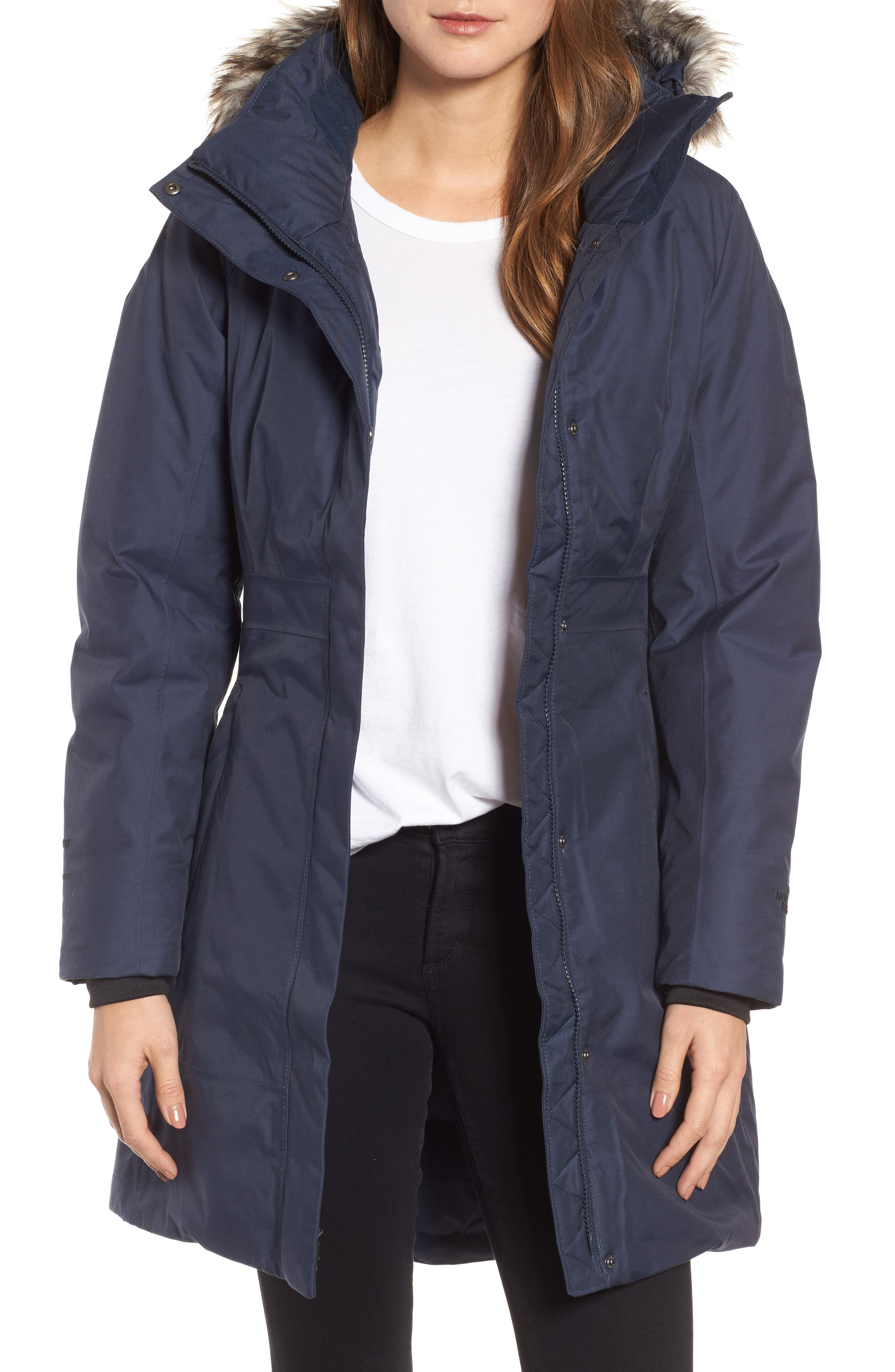 Arctic II Waterproof 550-Fill-Power Down Parka with Faux Fur Trim,                             Main thumbnail 4, color,