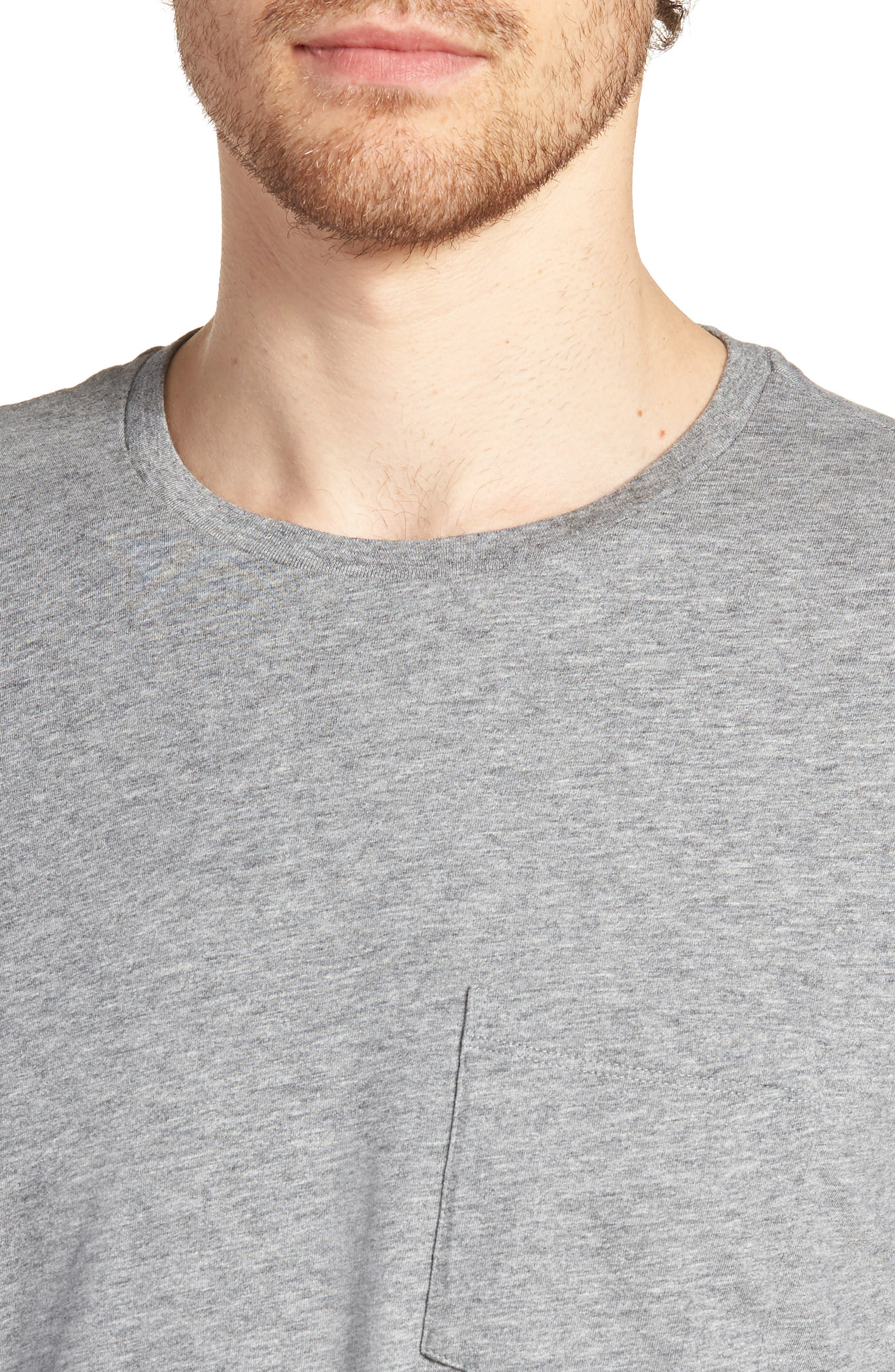Brushed Pima Cotton T-Shirt,                             Alternate thumbnail 4, color,                             030