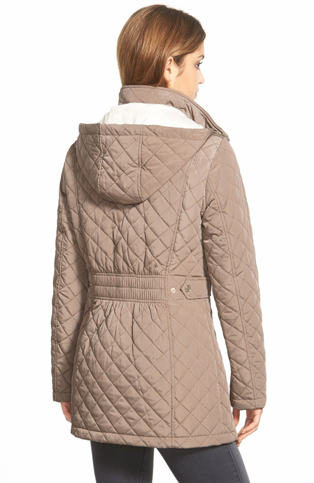 Hooded Quilted Jacket,                             Alternate thumbnail 37, color,