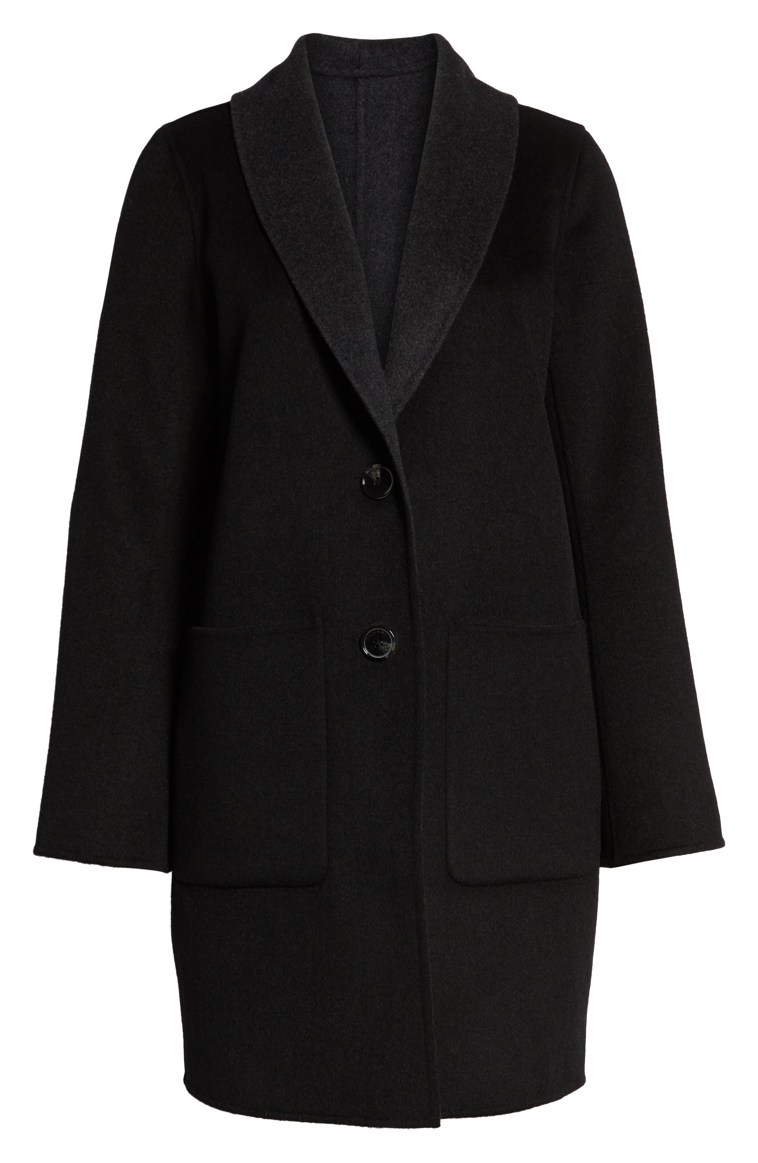 Jenn Double Face Wool Blend Reversible Coat,                             Alternate thumbnail 6, color,                             016
