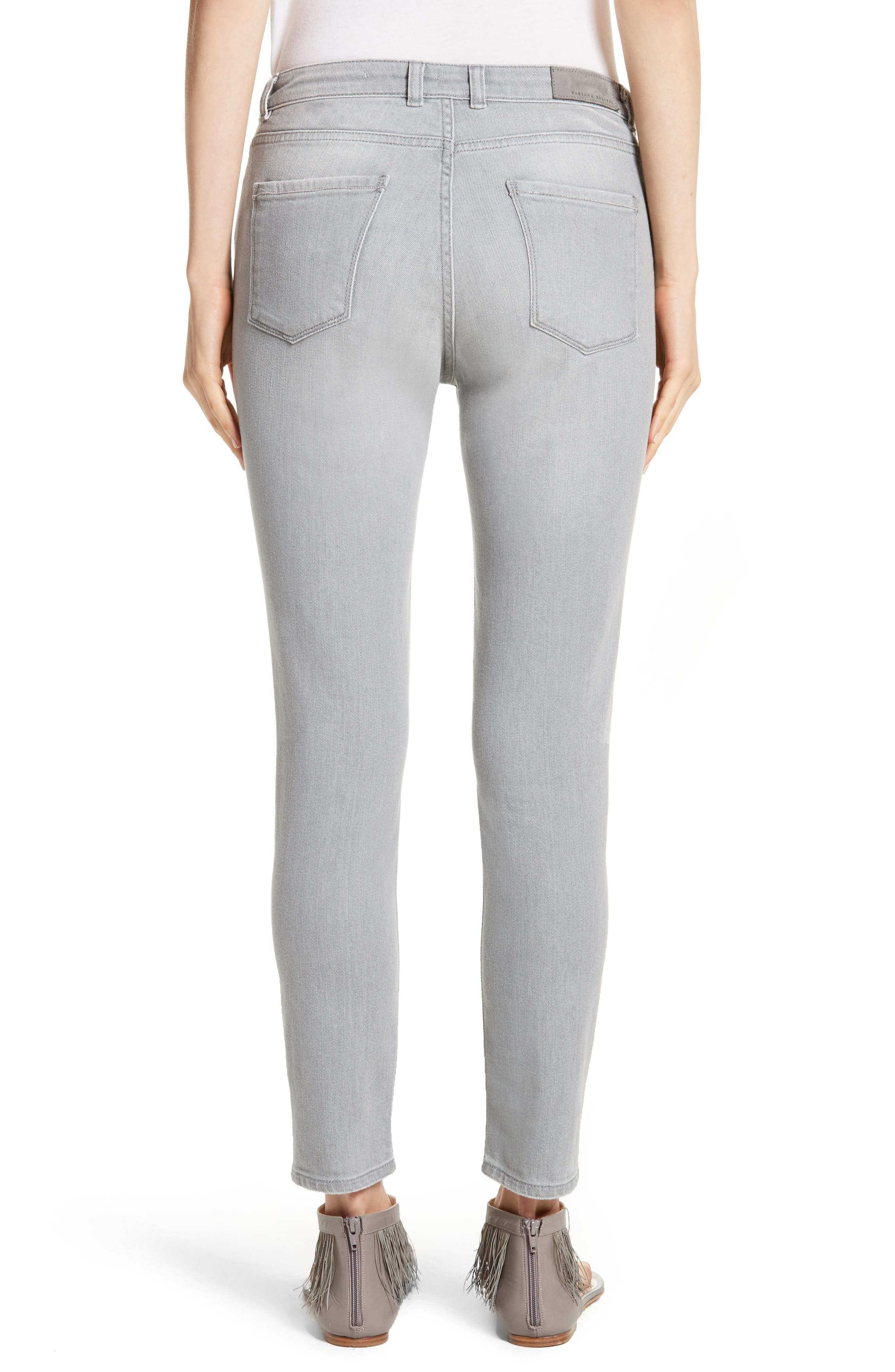 Stretch Skinny Jeans,                             Alternate thumbnail 2, color,                             020