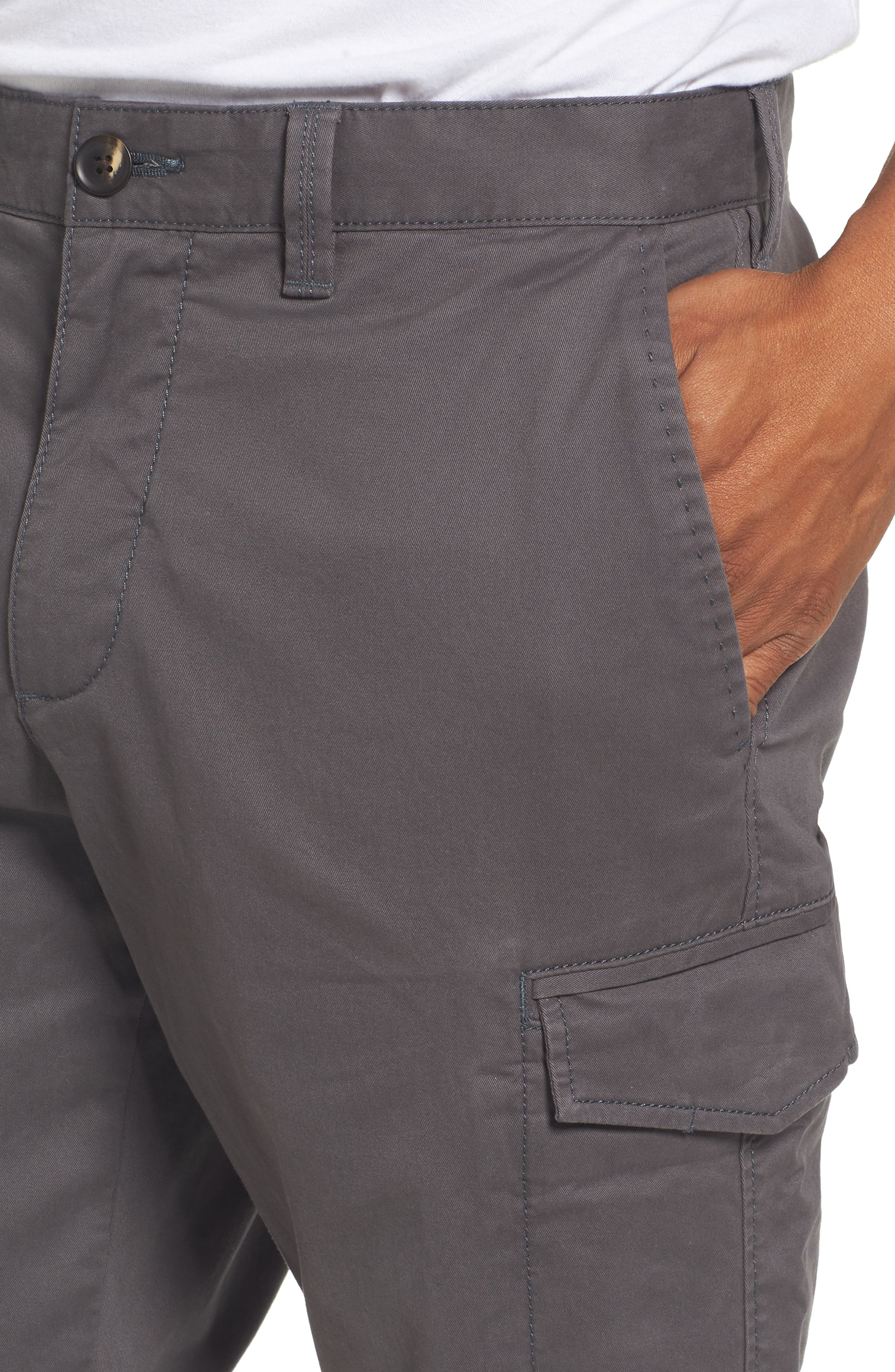 Regular Fit Cargo Pants,                             Alternate thumbnail 4, color,                             021