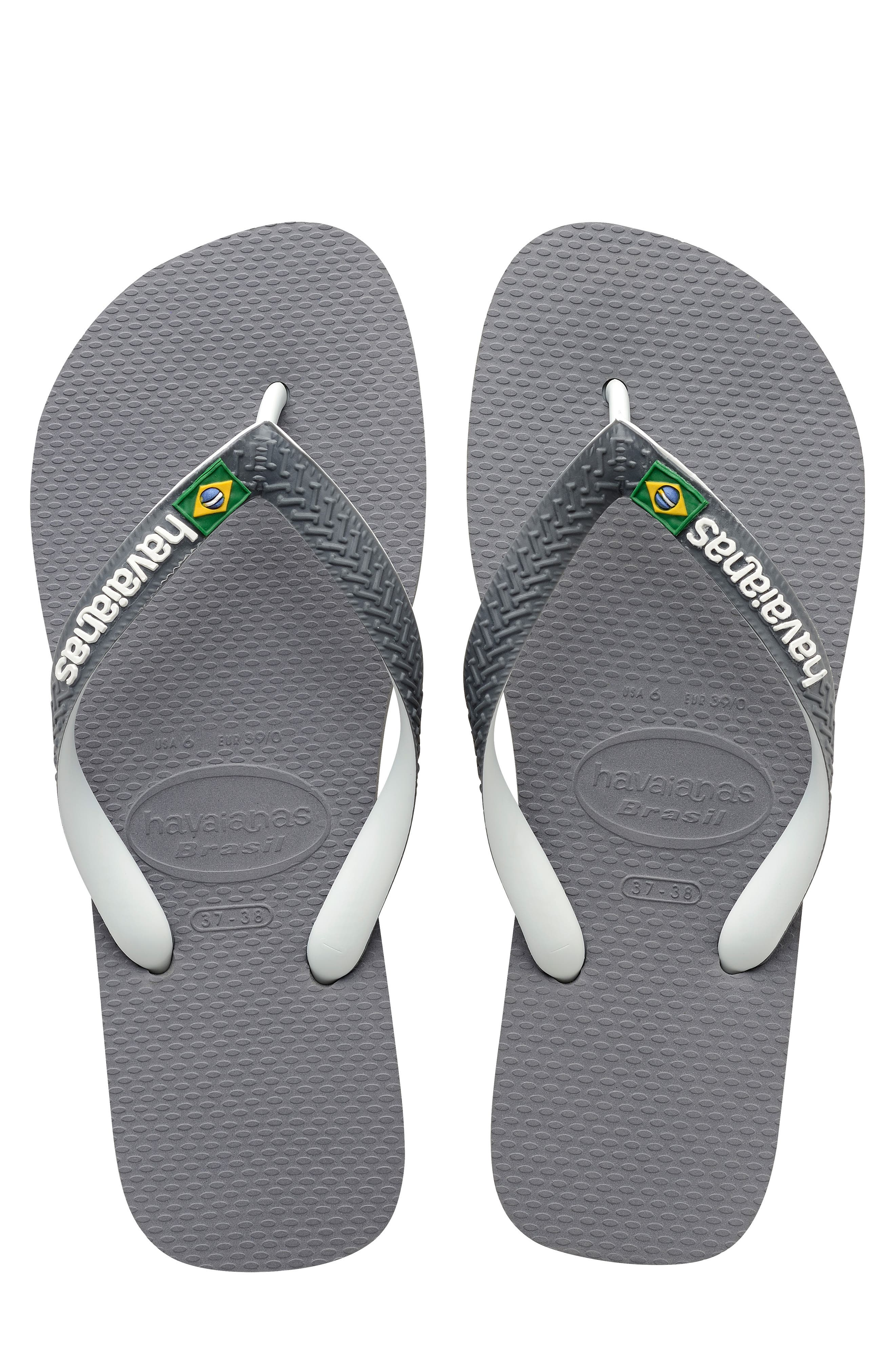 Brazil Mix Flip Flop,                             Main thumbnail 1, color,                             GREY