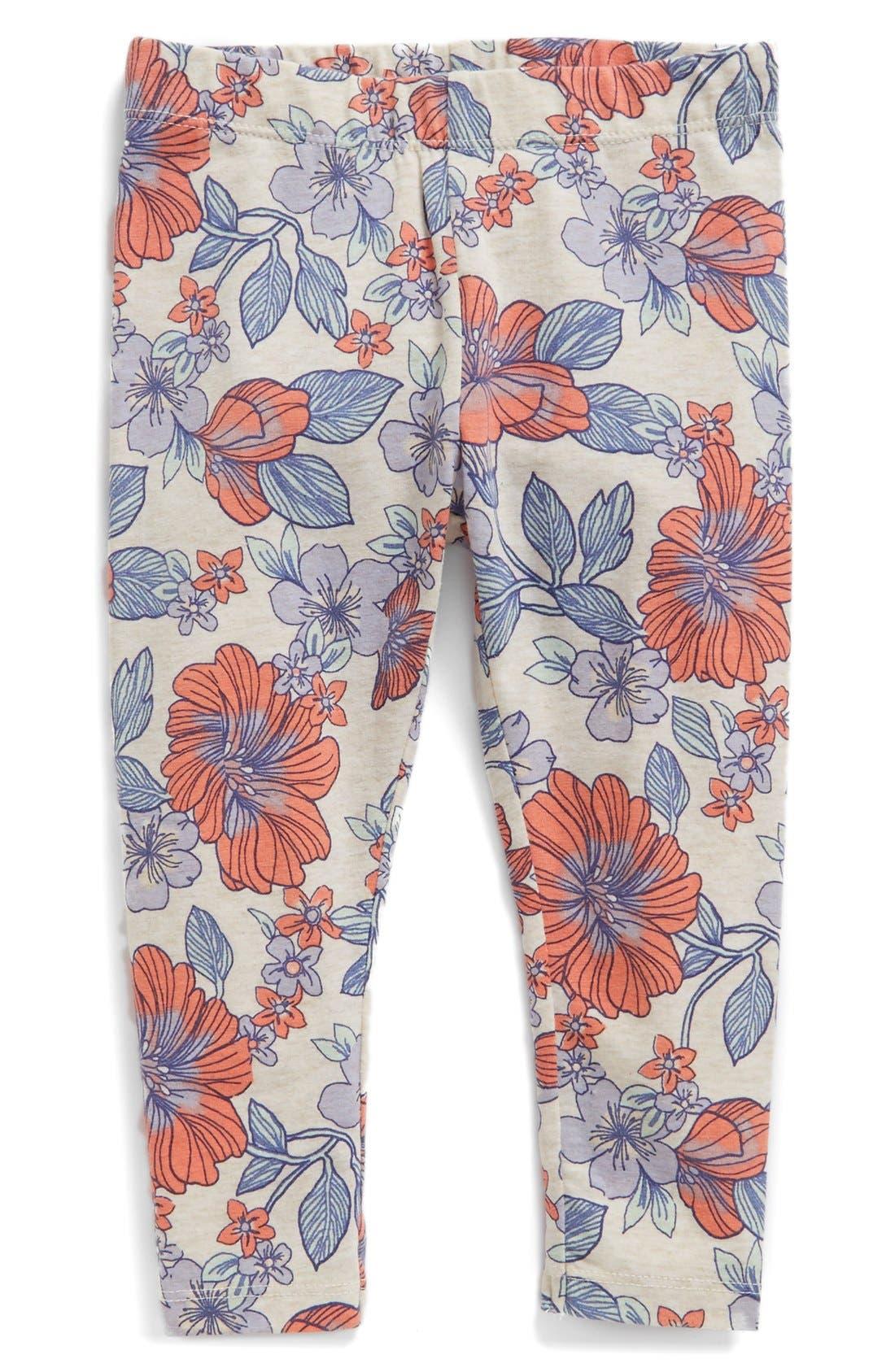 Floral Print Leggings,                             Main thumbnail 5, color,