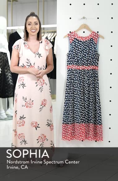 Sylvie Print Sleeveless Dress, sales video thumbnail