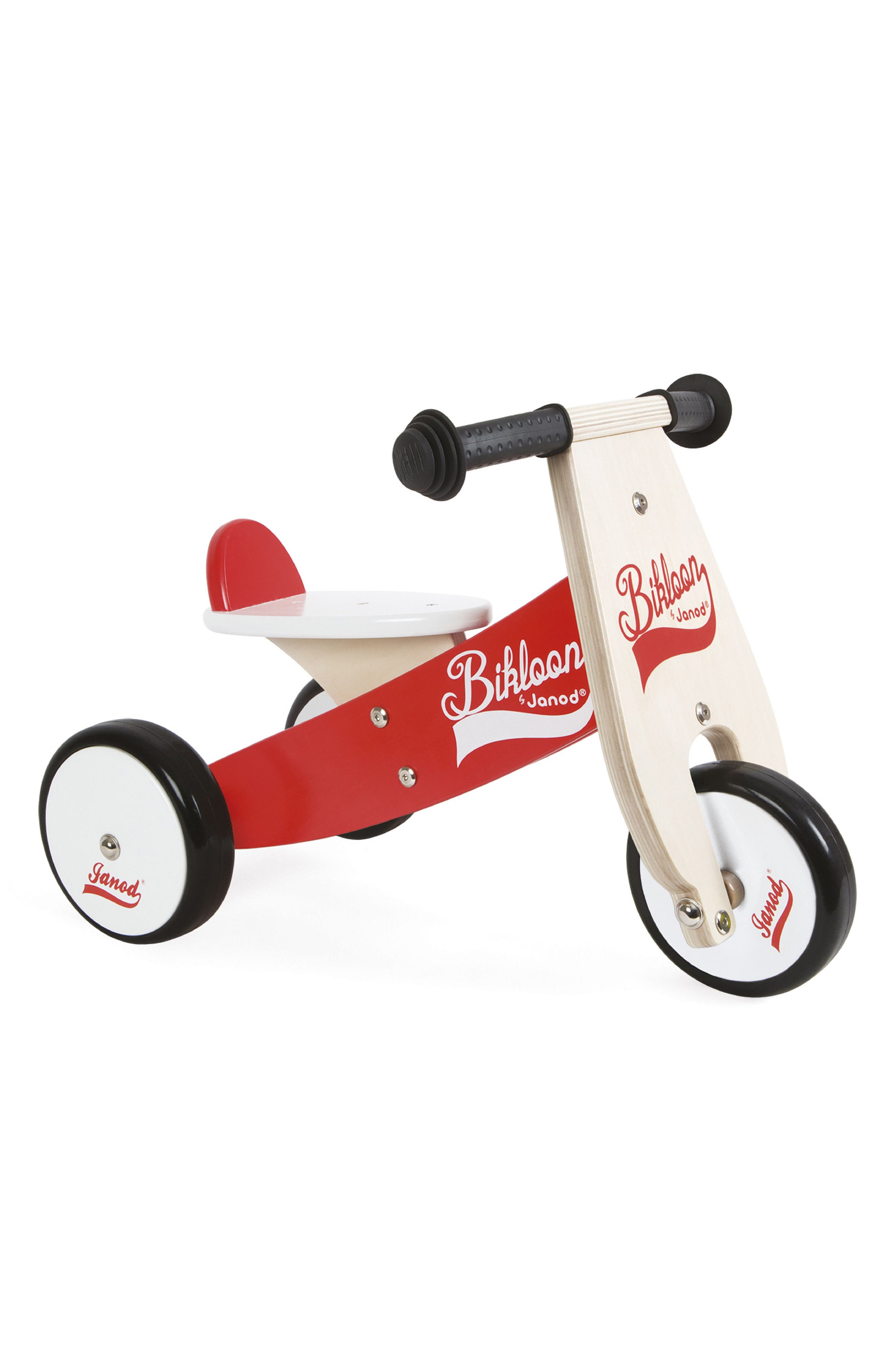 Wood Tricycle,                             Main thumbnail 1, color,                             RED/ WHITE