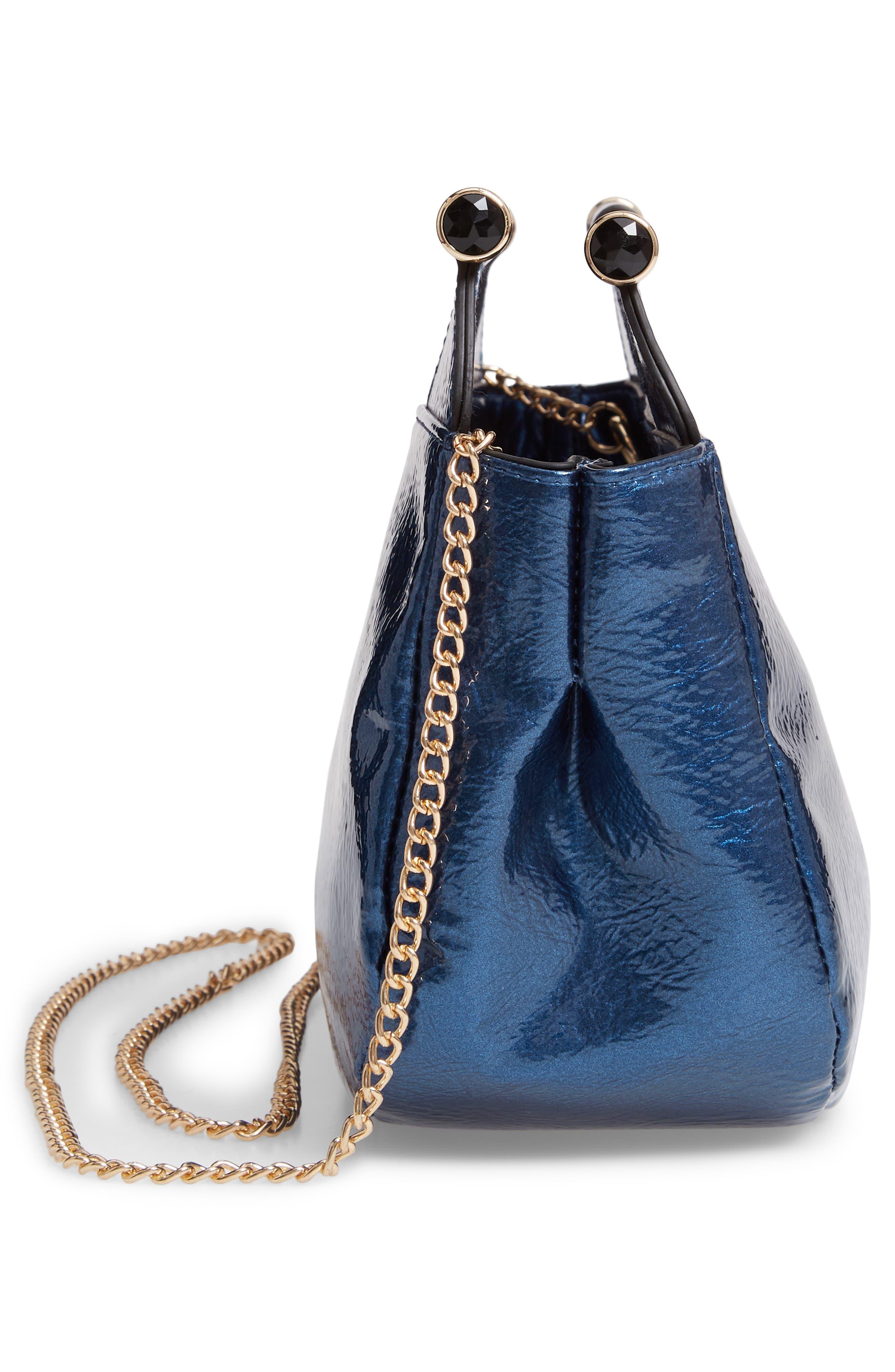 Patent Leather Crossbody Bag,                             Alternate thumbnail 5, color,                             400