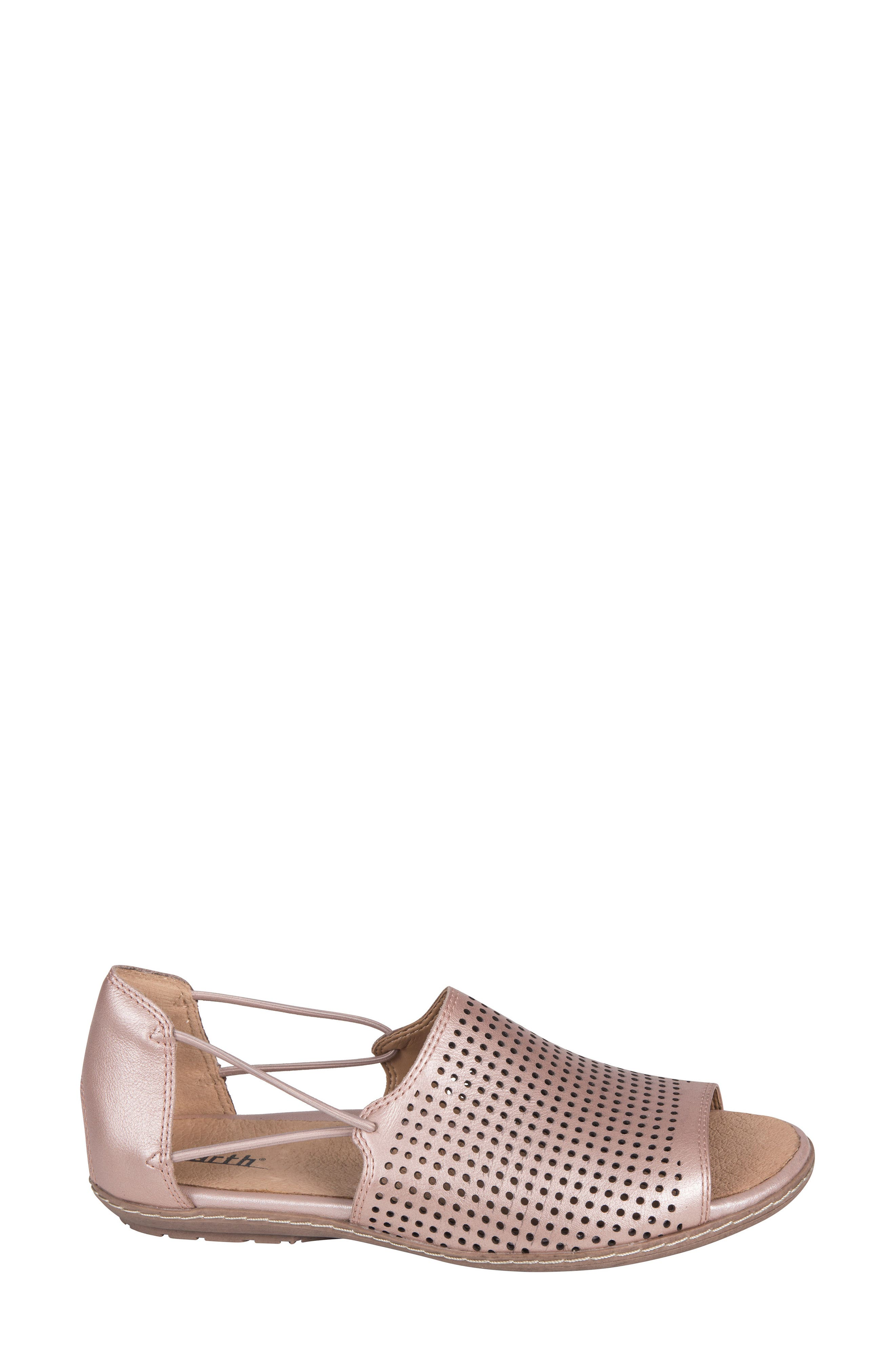 Shelly Sandal,                             Alternate thumbnail 3, color,                             BLUSH METALLIC LEATHER