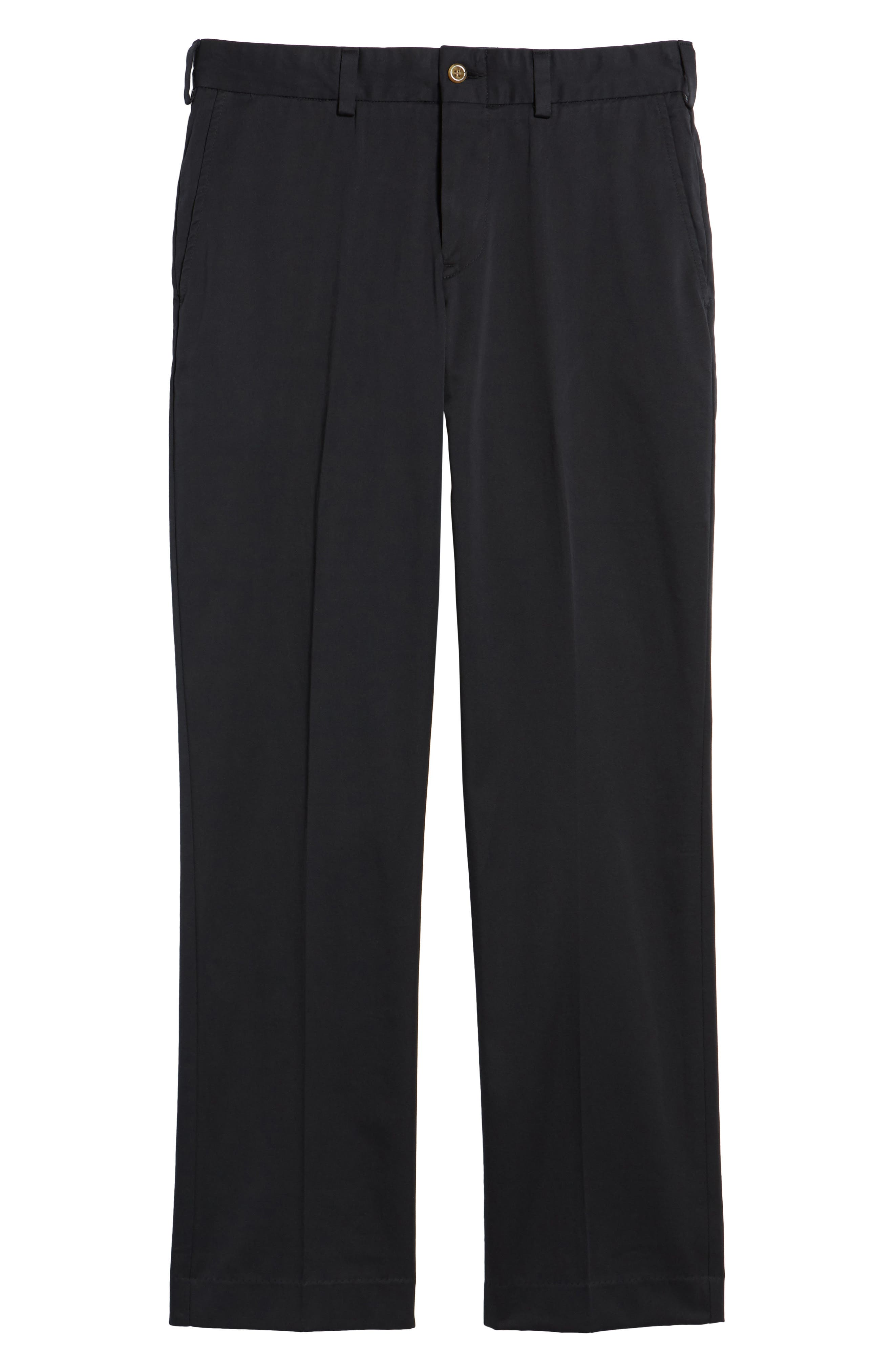 Straight Fit Chamois Cloth Pants,                             Alternate thumbnail 6, color,                             BLACK