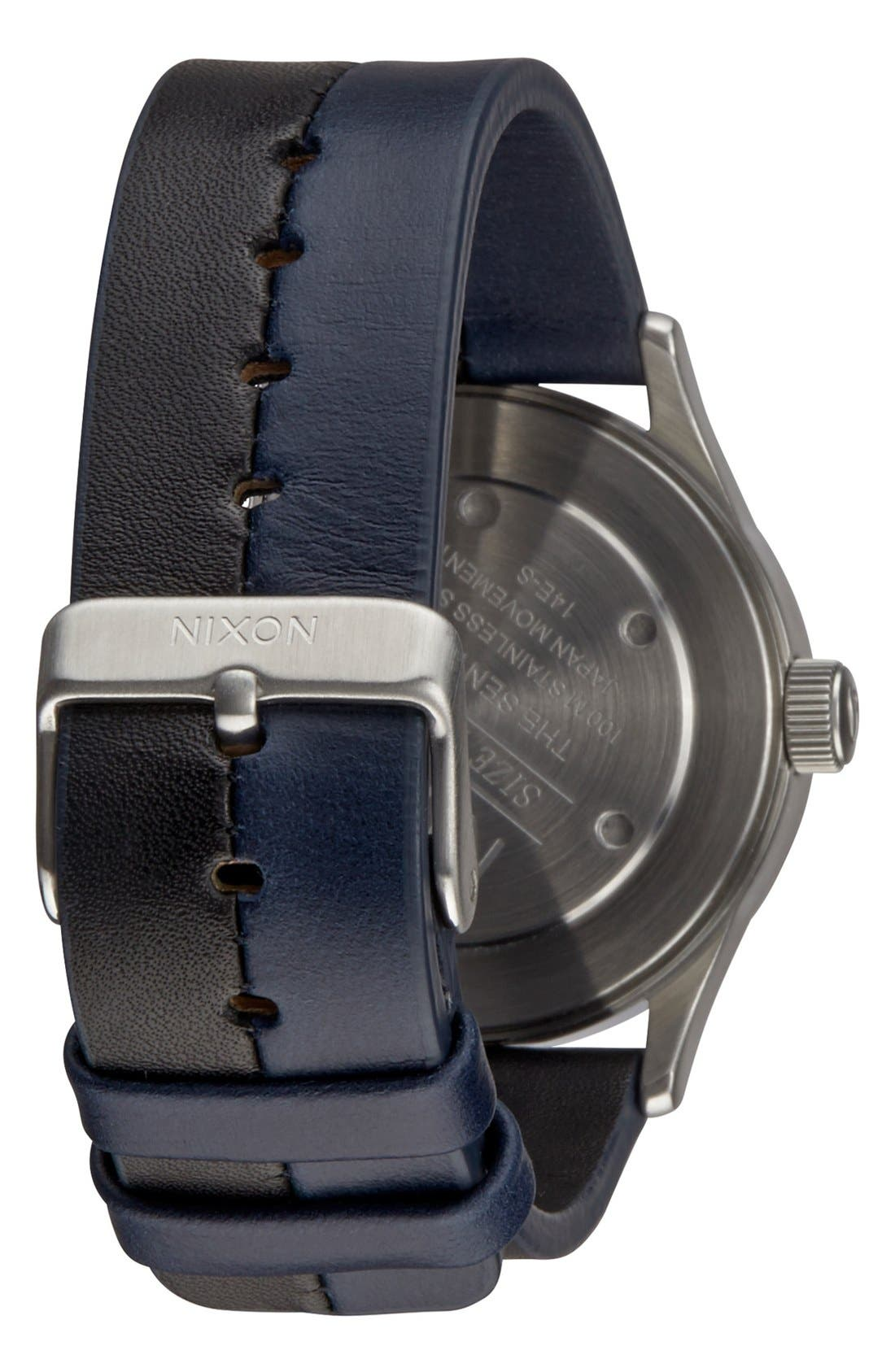 'The Sentry 38' Leather Strap Watch, 38mm,                             Alternate thumbnail 14, color,