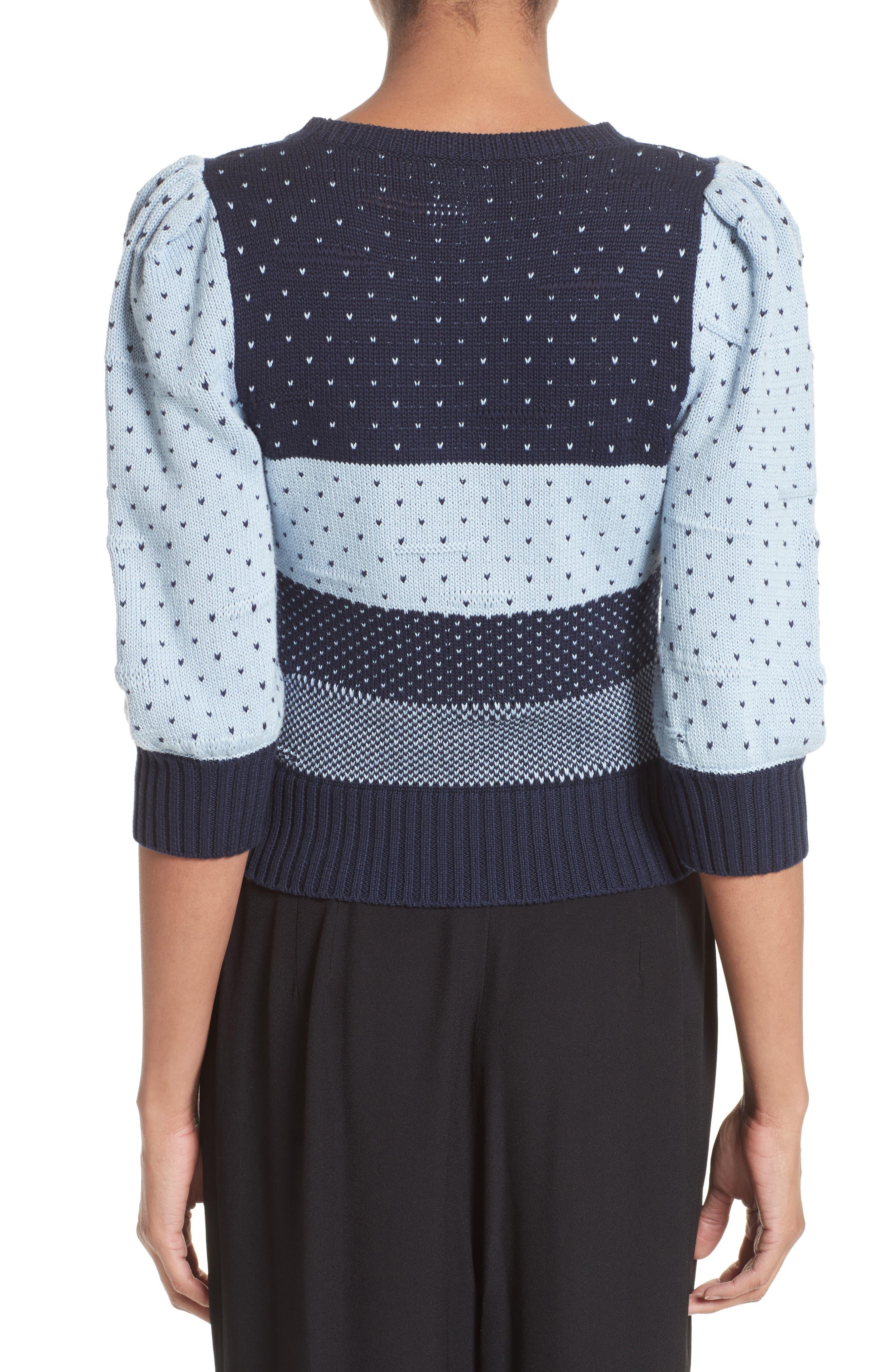 Cotton Jacquard Sweater,                             Alternate thumbnail 2, color,                             411