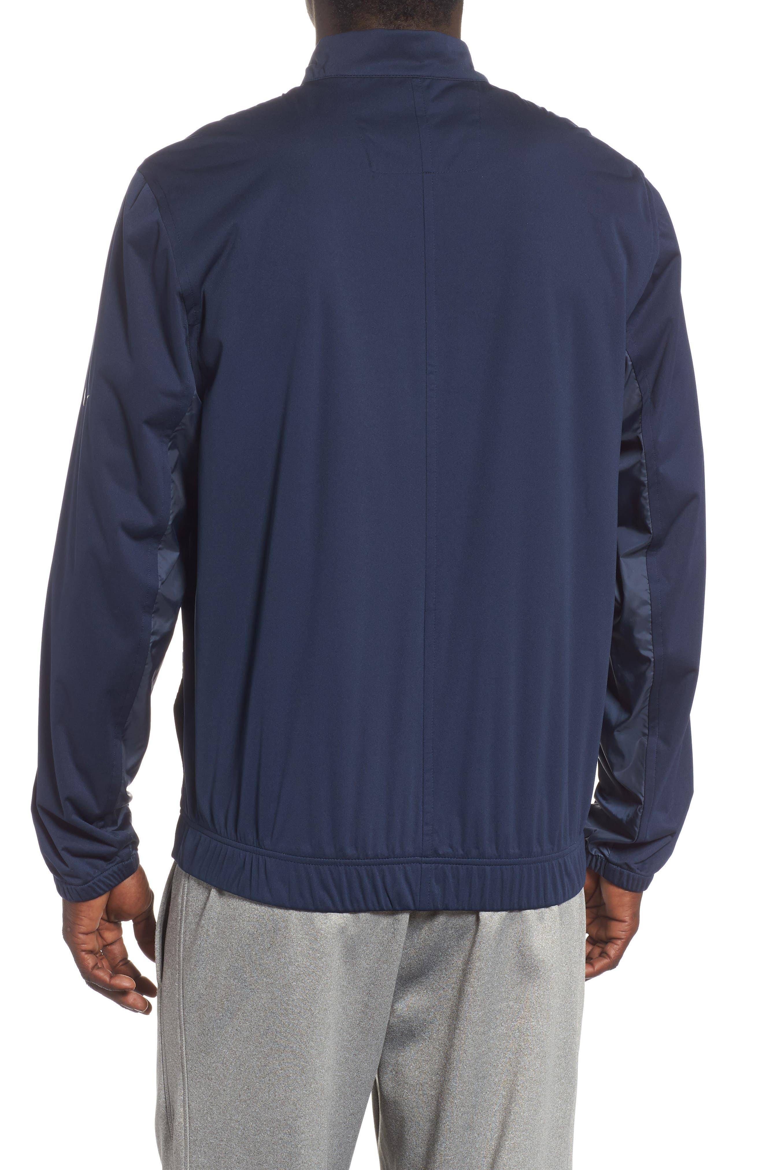 Shield Core Zip Golf Jacket,                             Alternate thumbnail 2, color,                             OBSIDIAN/ OBSIDIAN/ BLACK