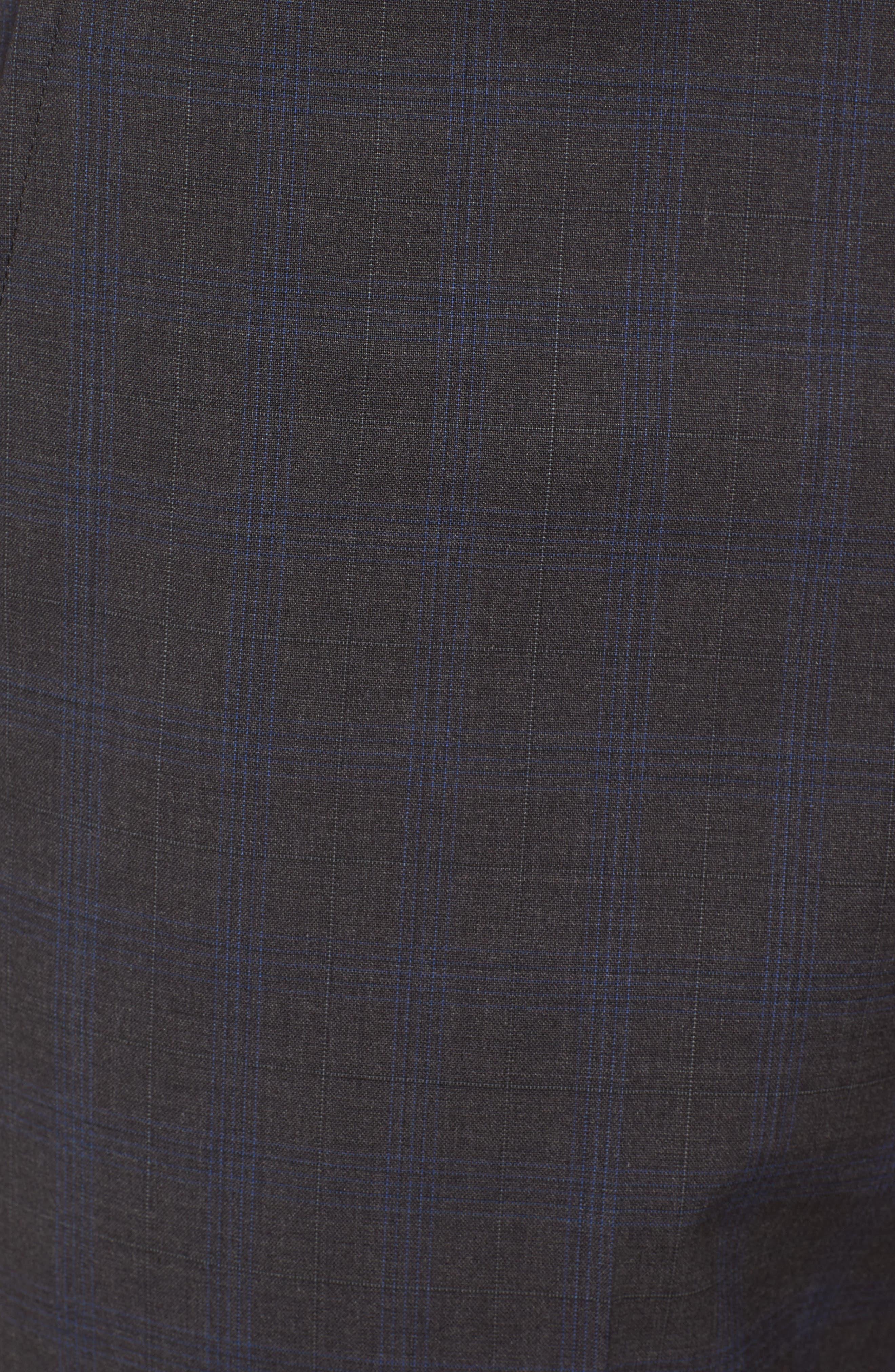 Marlo Trim Fit Tonal Plaid Trousers,                             Alternate thumbnail 5, color,                             053