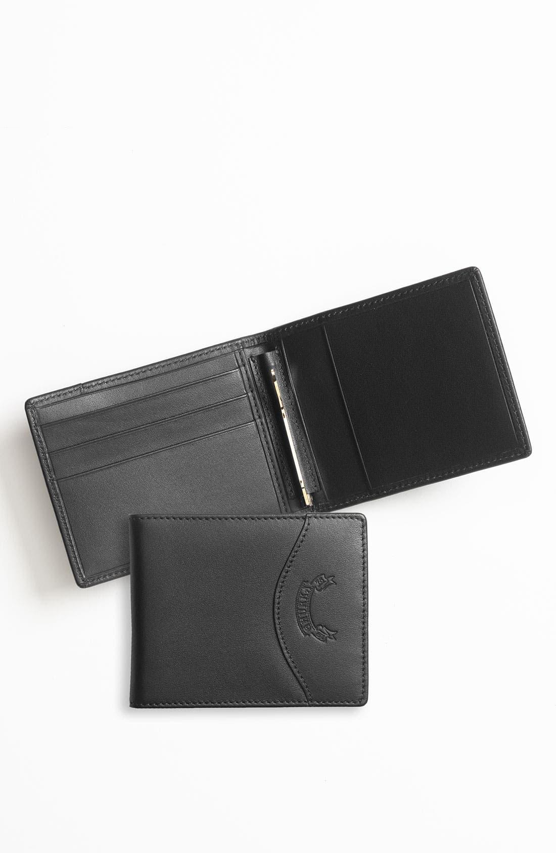 Leather Money Clip Wallet, Main, color, 001