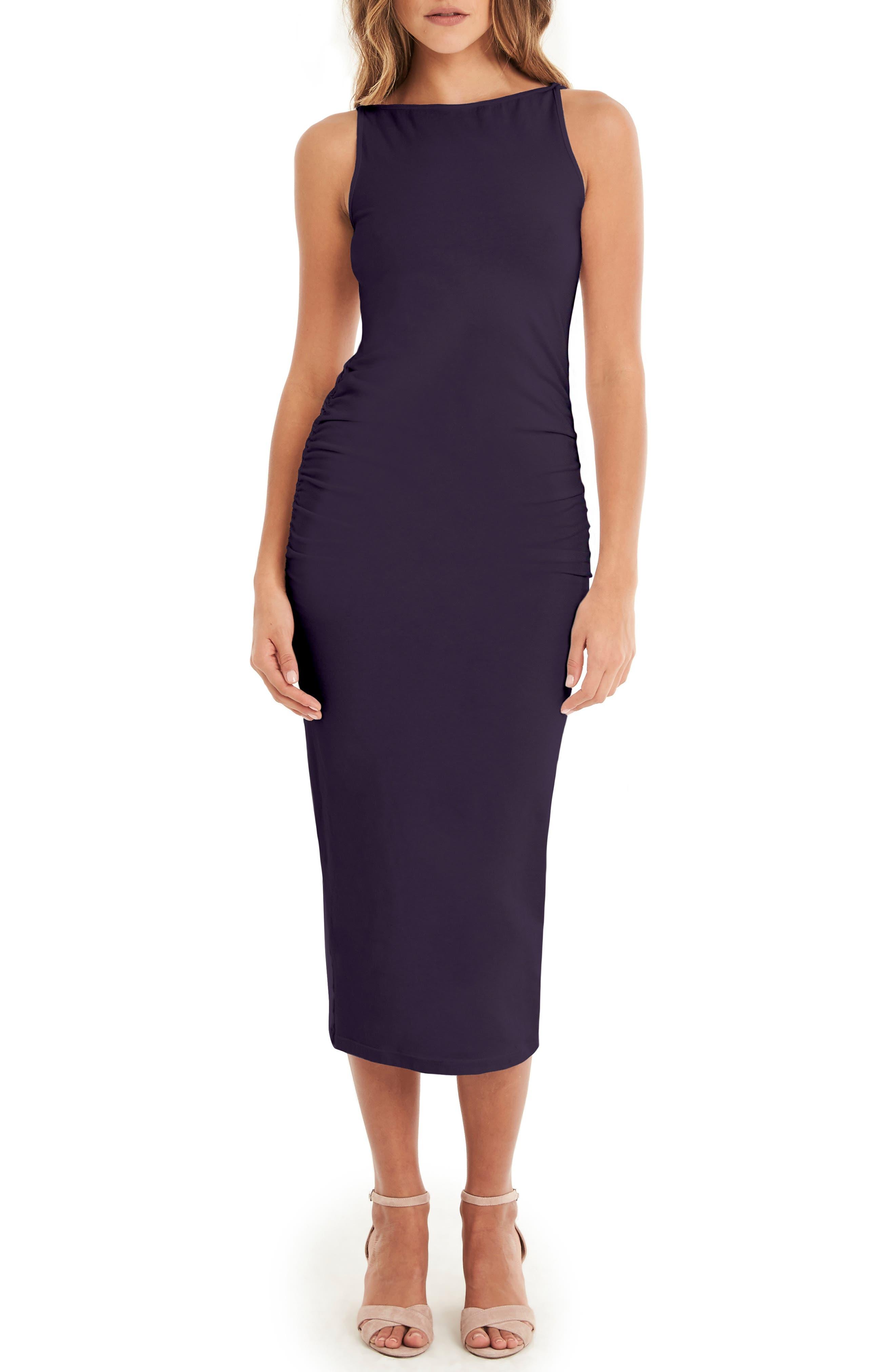 Reversible Stretch Cotton Midi Dress,                         Main,                         color, GYPSY
