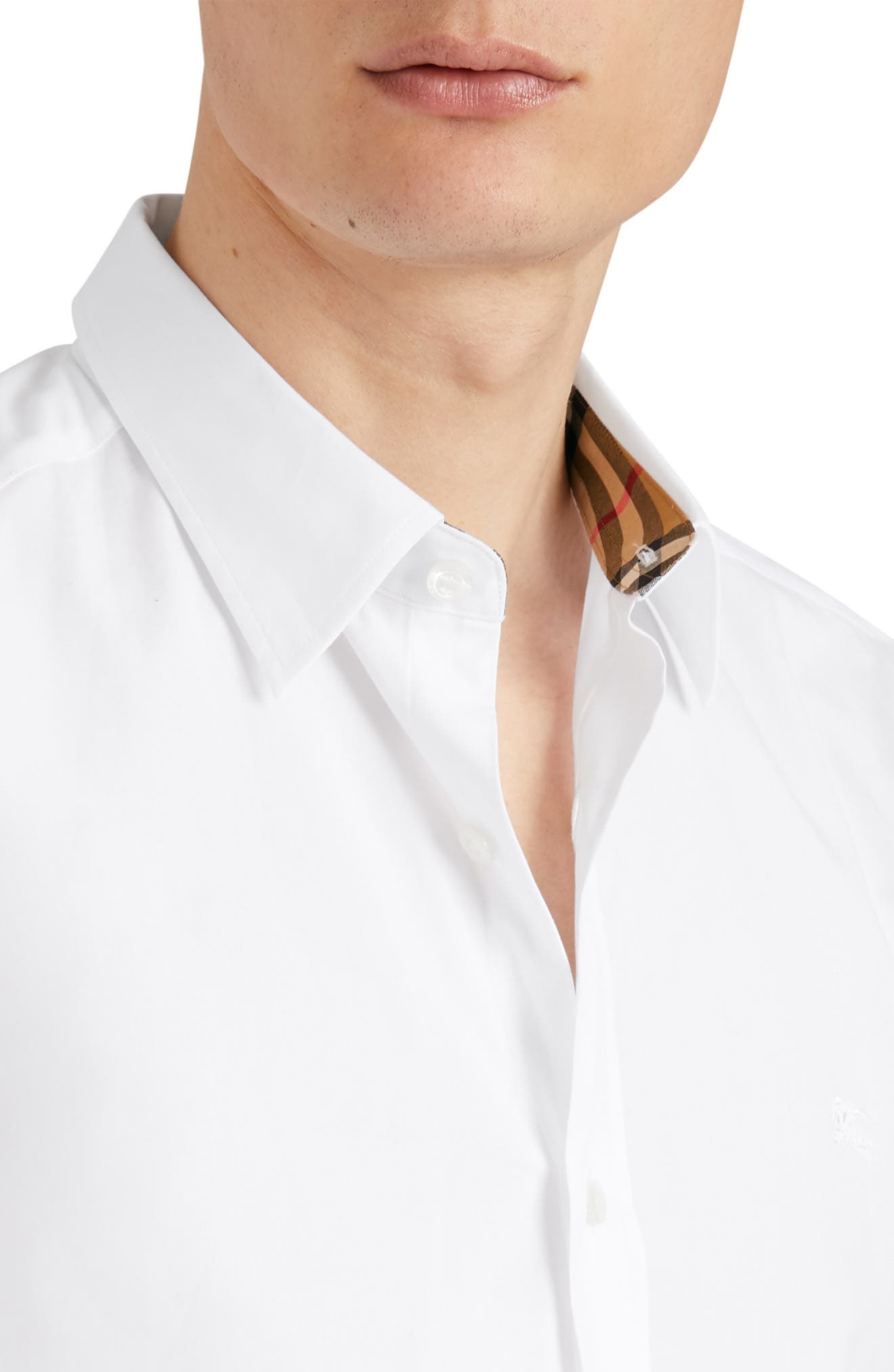 William Stretch Solid Sport Shirt,                             Alternate thumbnail 2, color,                             WHITE