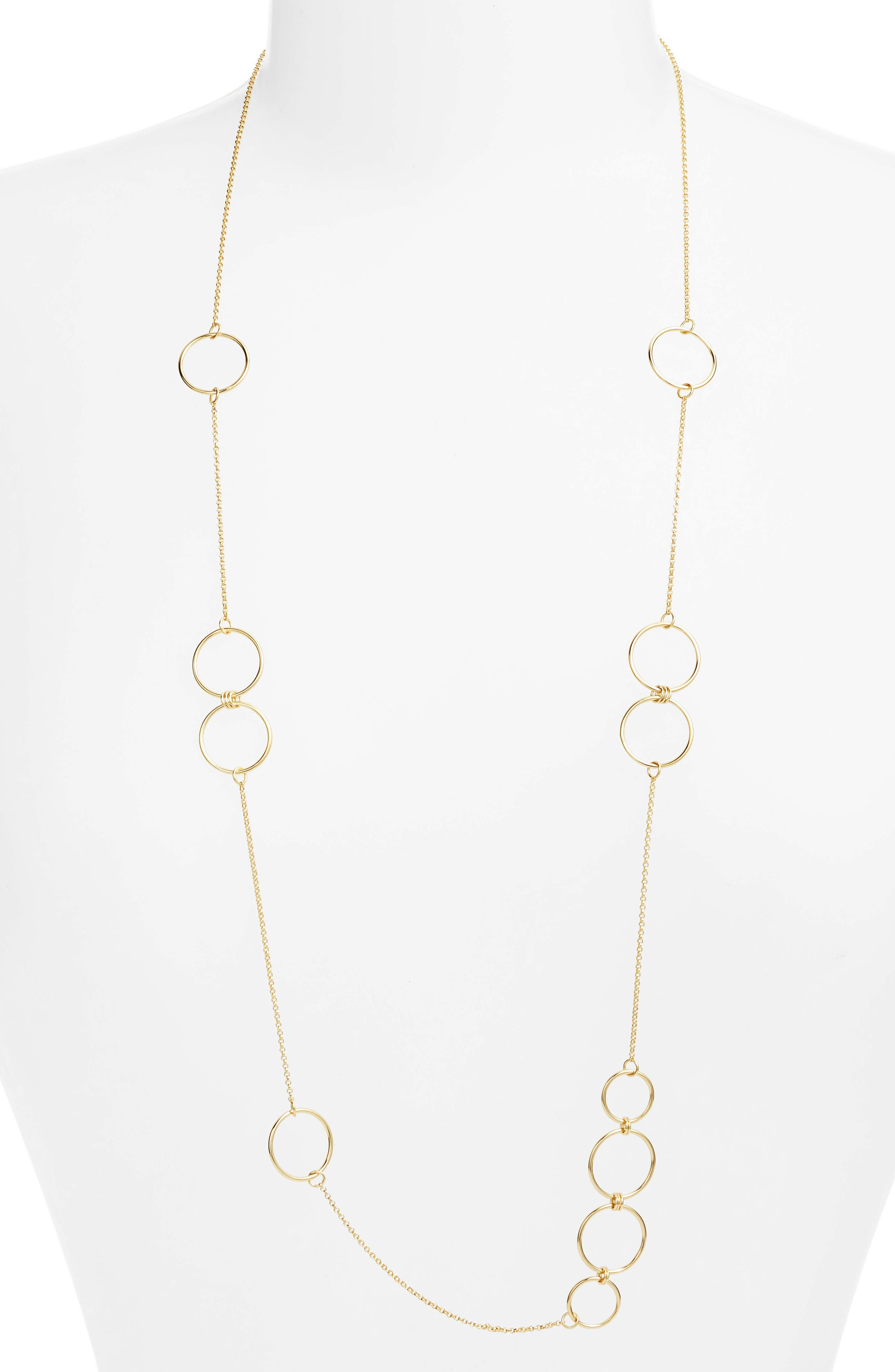 Links Station Wrap Necklace,                         Main,                         color, GOLD