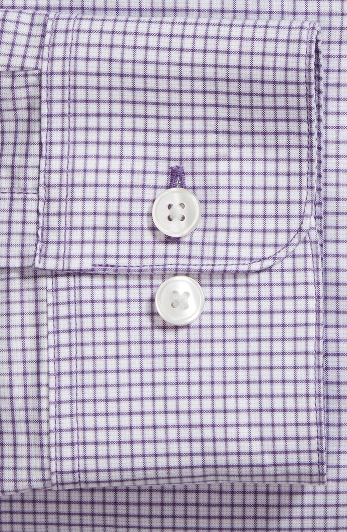 Regular Fit Stretch Check Dress Shirt,                             Alternate thumbnail 6, color,                             522
