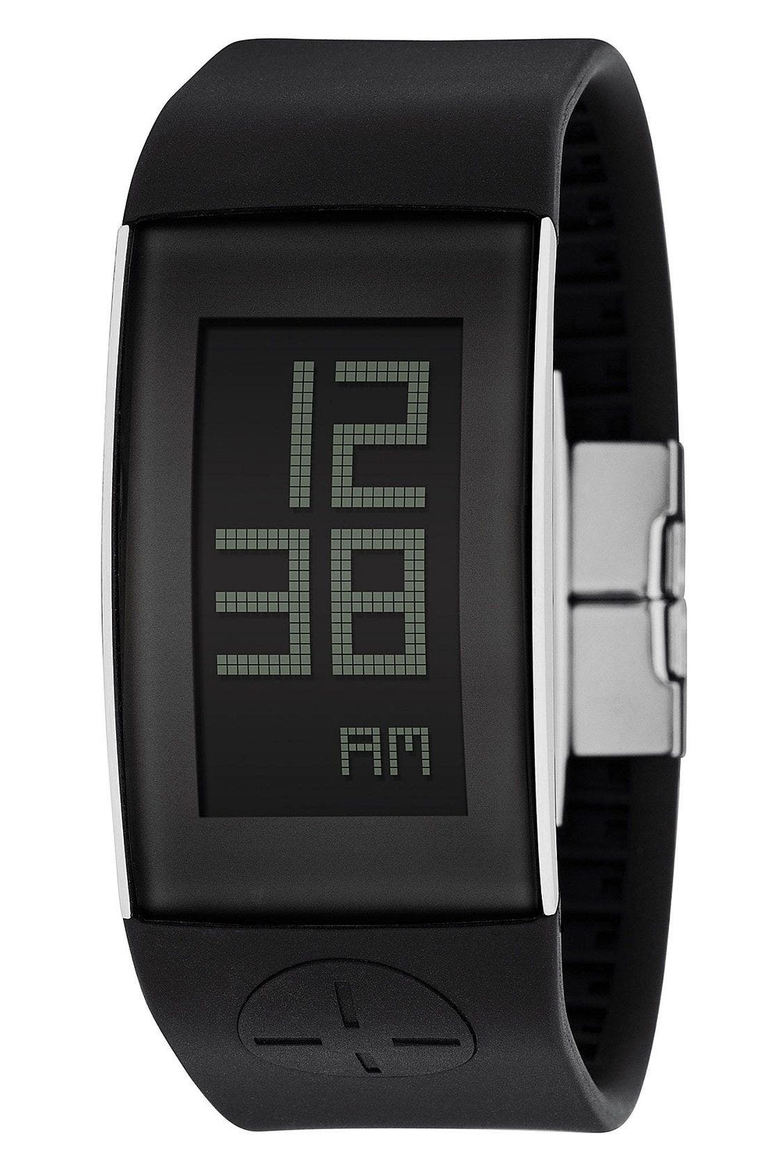 FOSSIL 'Digital' Watch, Main, color, BLK