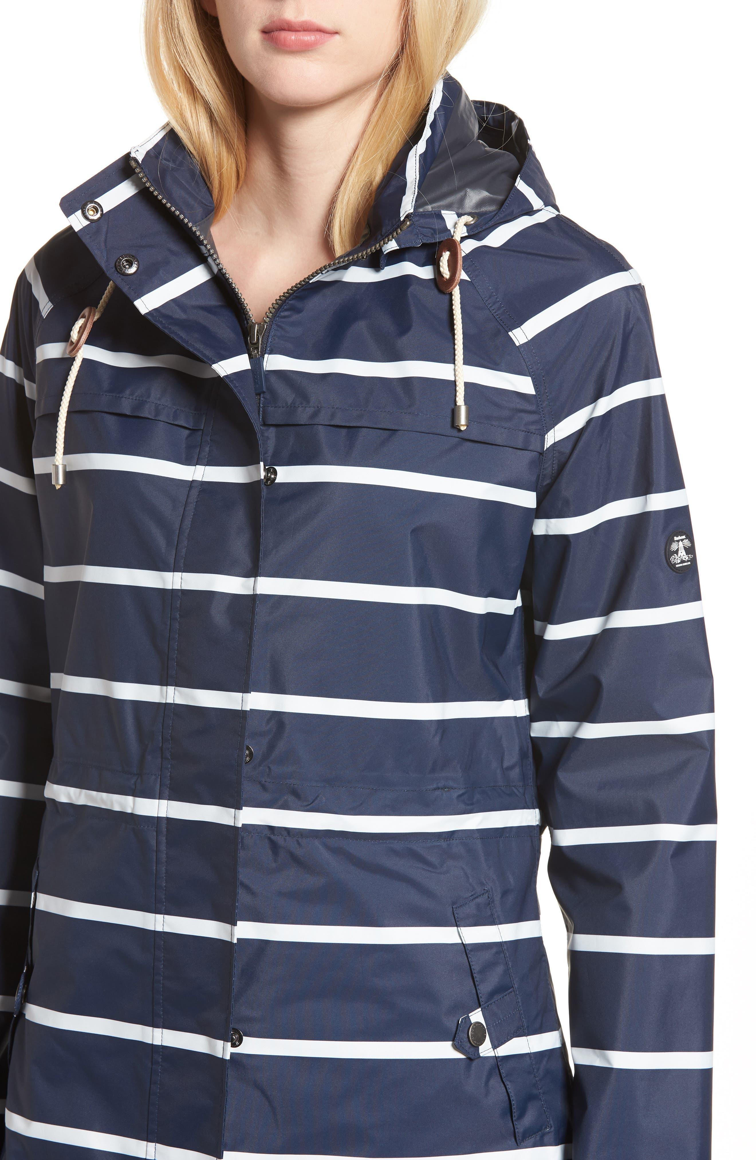 Holliwell Stripe Hooded Jacket,                             Alternate thumbnail 4, color,                             410