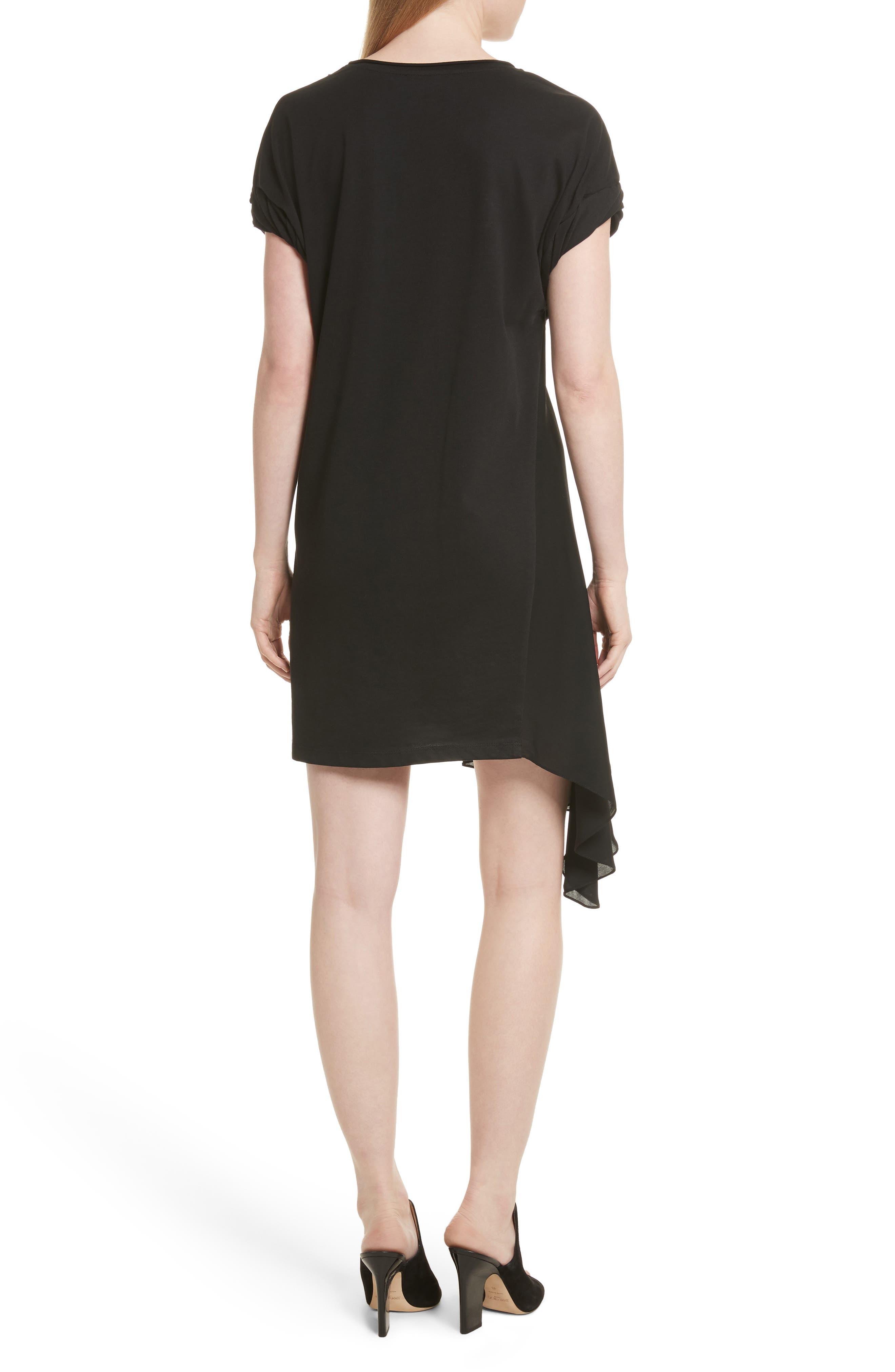 Gathered Waist Dress,                             Alternate thumbnail 2, color,                             001