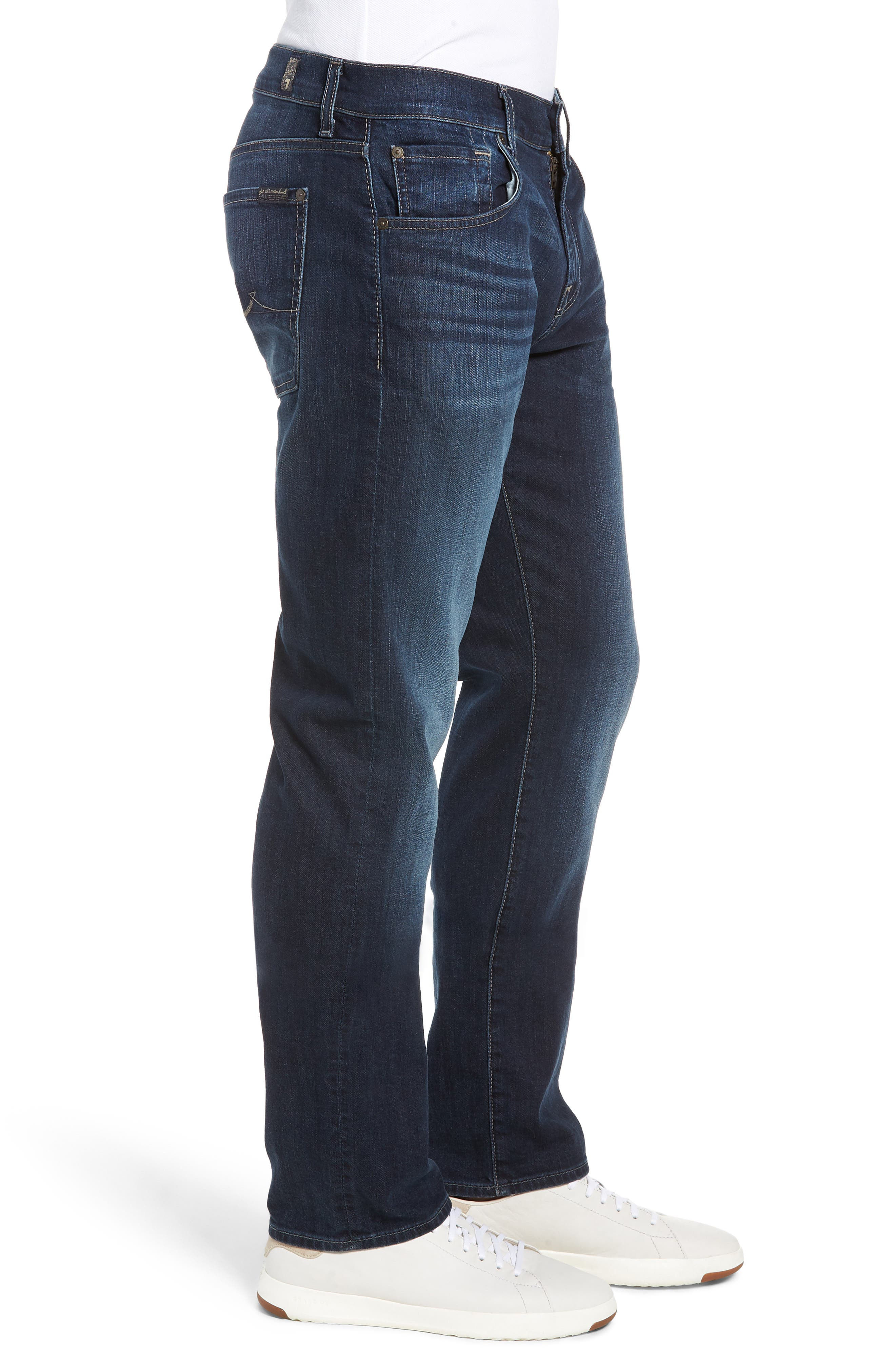Straight Leg Jeans,                             Alternate thumbnail 3, color,                             JUSTICE