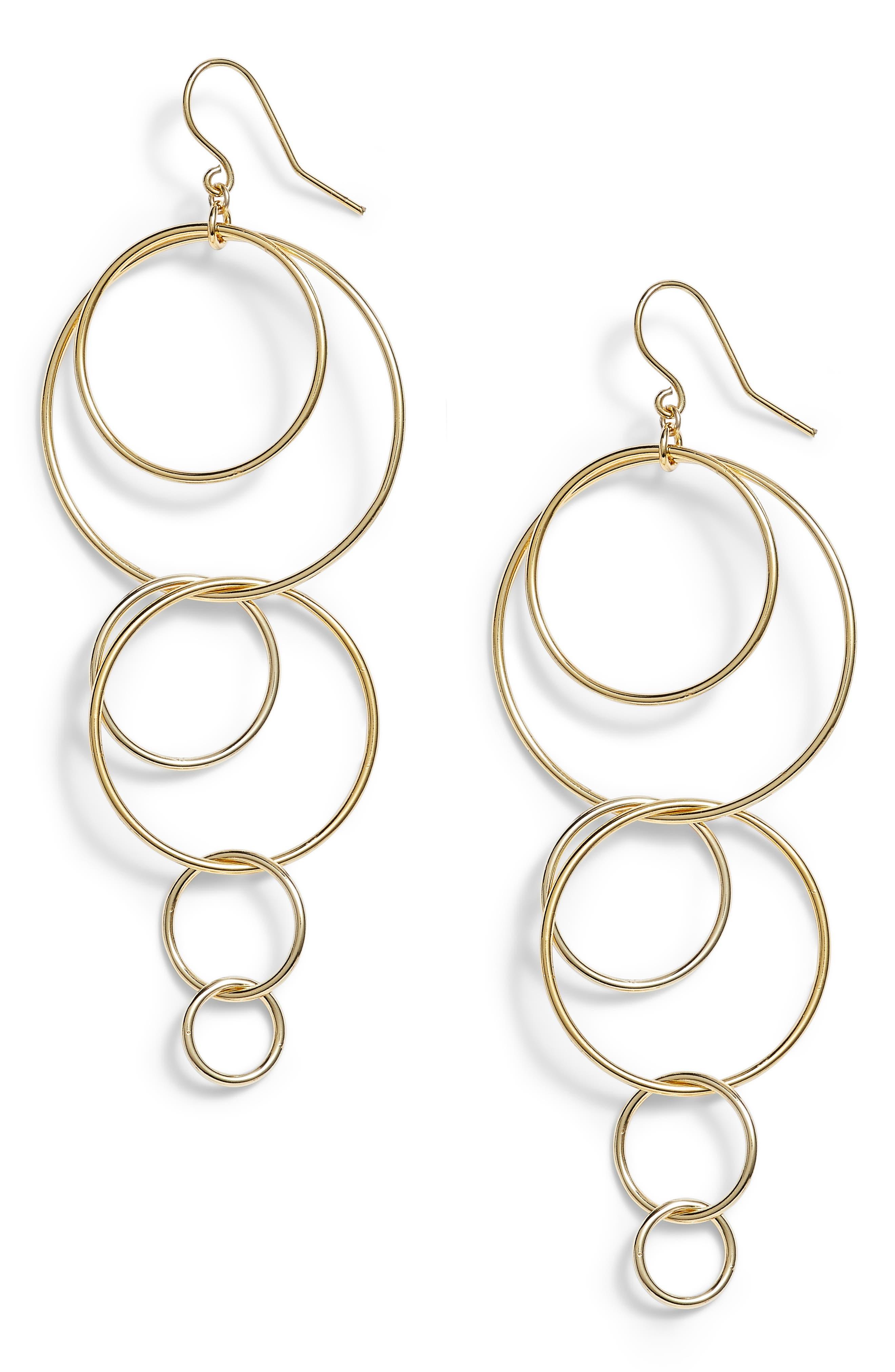 Wilshire Multi Loop Drop Earrings,                         Main,                         color, GOLD
