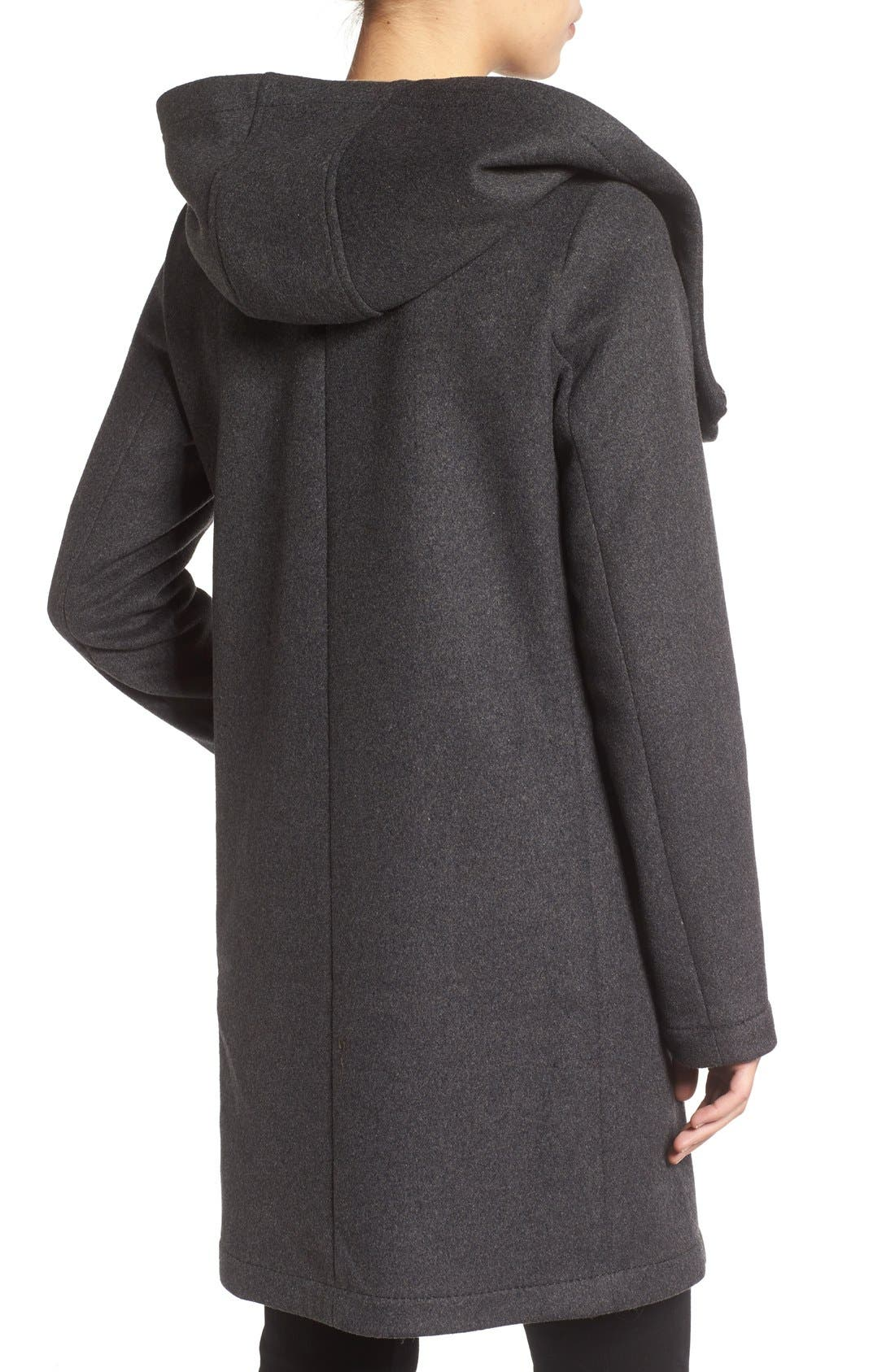 Double Face Hooded Drape Coat,                             Alternate thumbnail 4, color,