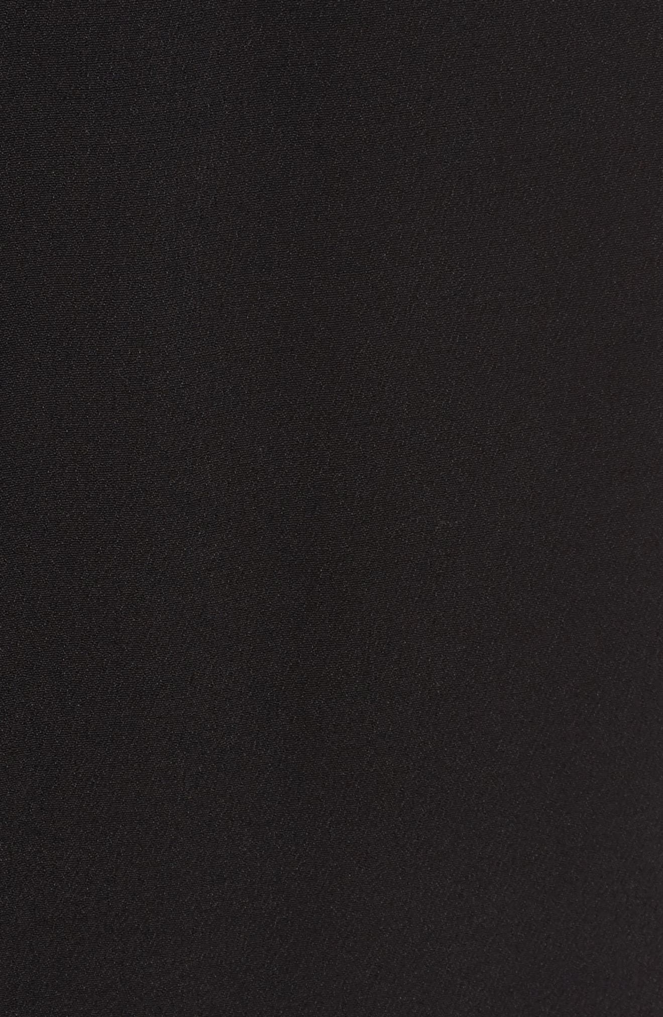 Illusion Sleeve Top,                             Alternate thumbnail 5, color,                             BLACK
