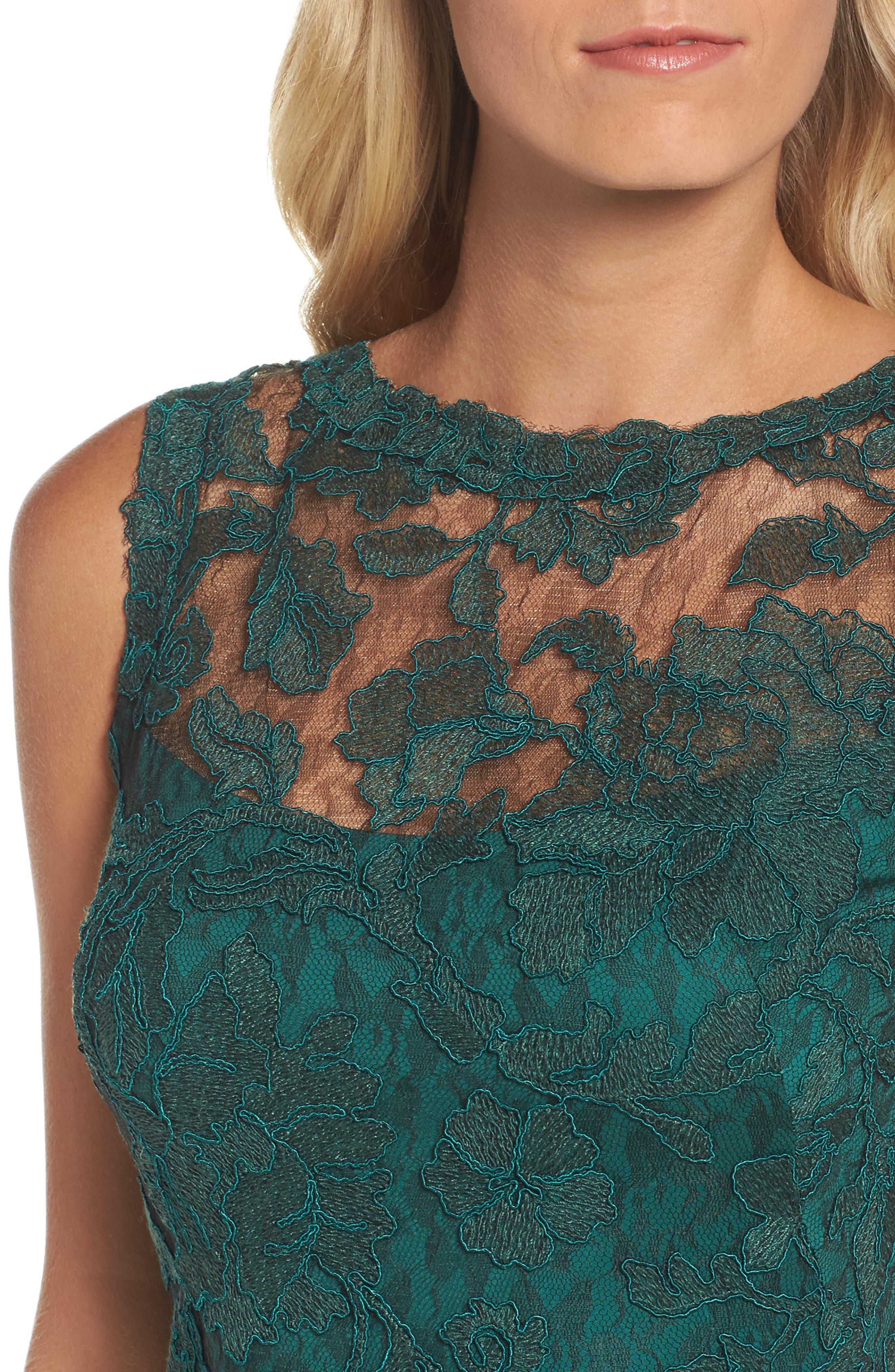 Corded Lace Sheath Dress,                             Alternate thumbnail 4, color,                             376