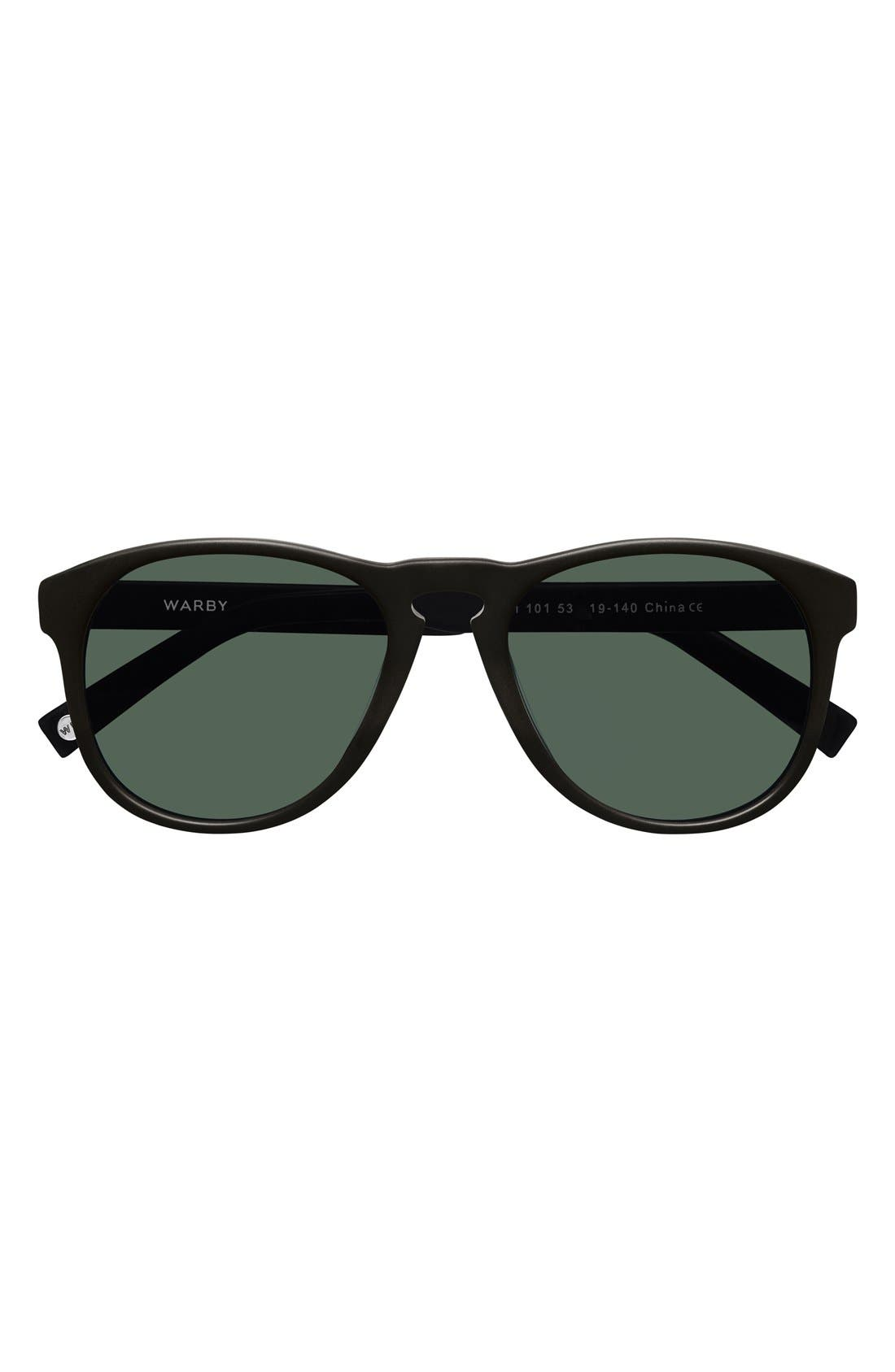 WARBY PARKER,                             'Griffin' 53mm Polarized Sunglasses,                             Alternate thumbnail 4, color,                             001