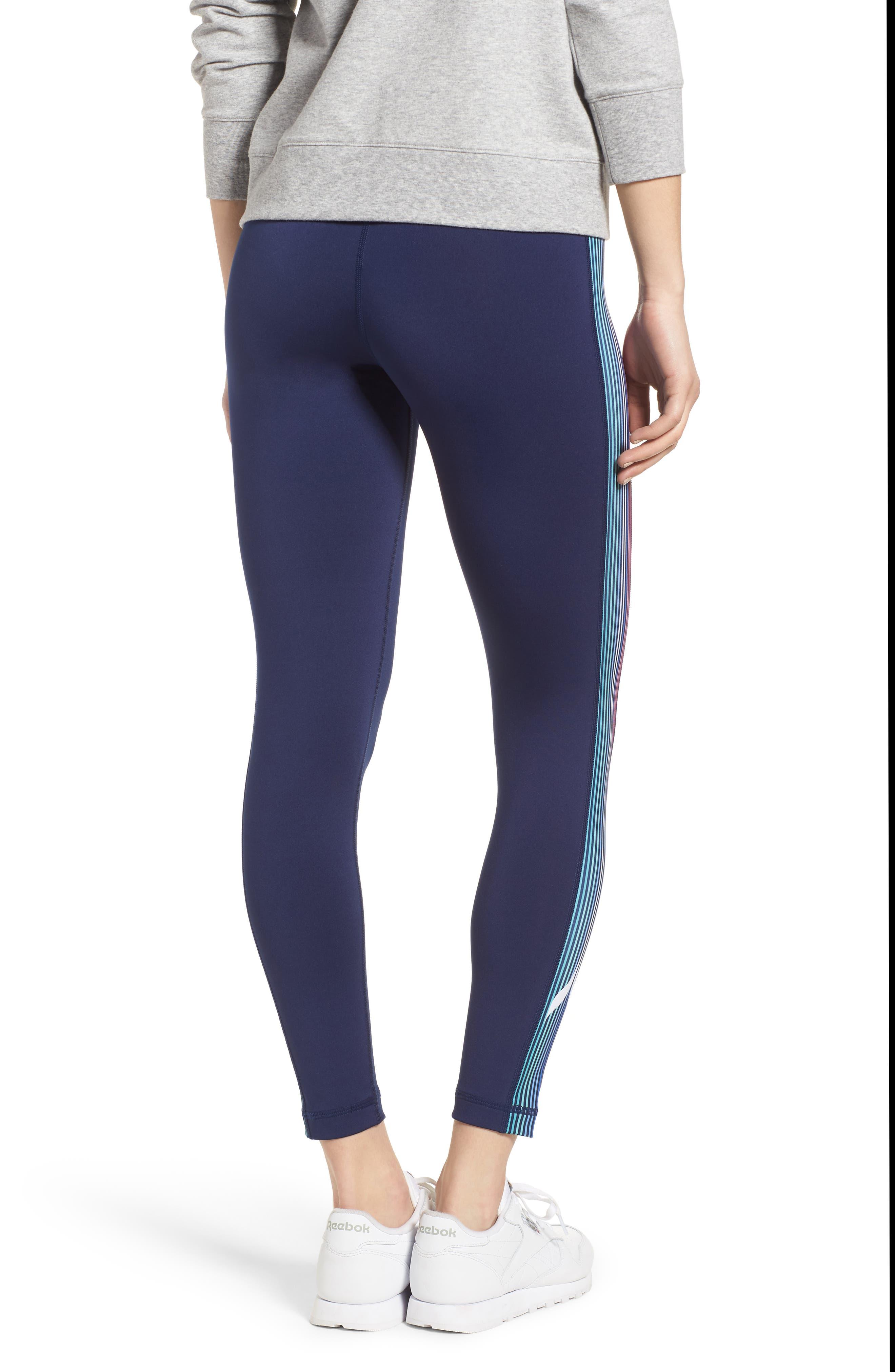 Whale Stripe Sports Leggings,                             Alternate thumbnail 2, color,                             476