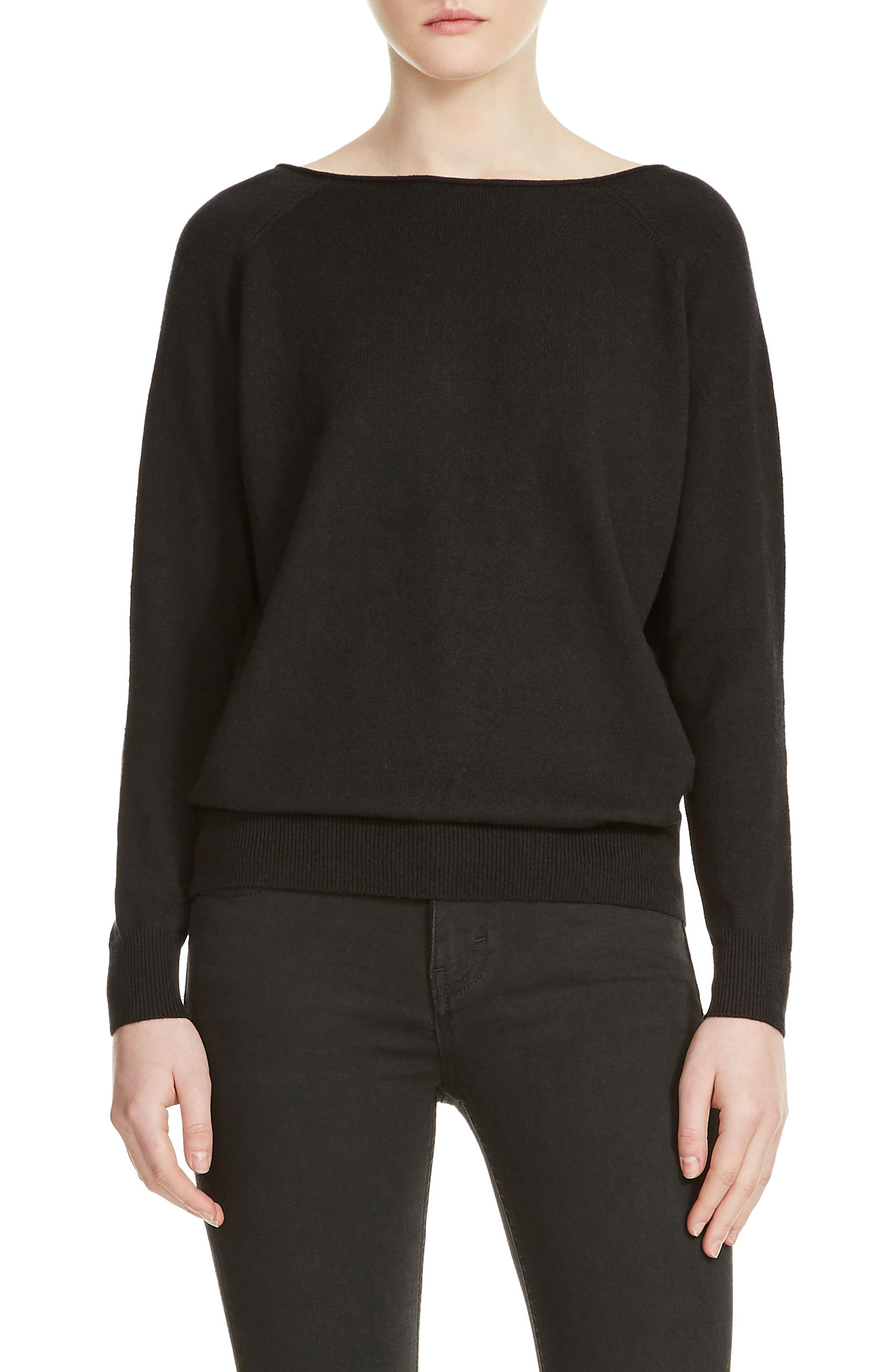 Macademia Chain Back Sweater,                             Main thumbnail 1, color,                             001