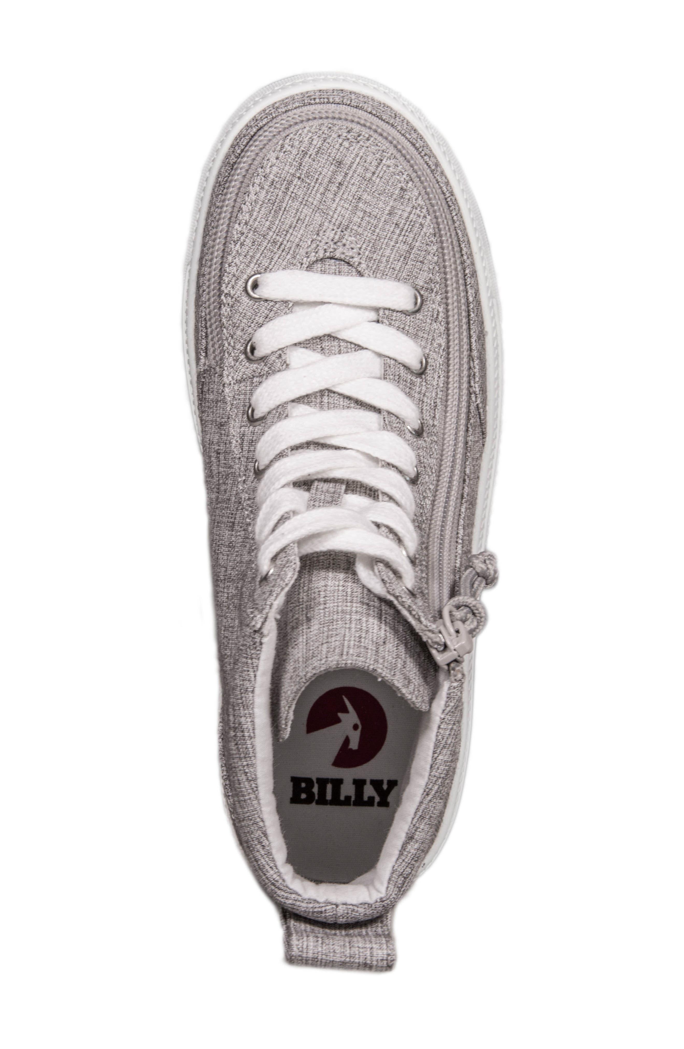 Zip Around High Top Sneaker,                             Alternate thumbnail 4, color,                             GREY JERSEY