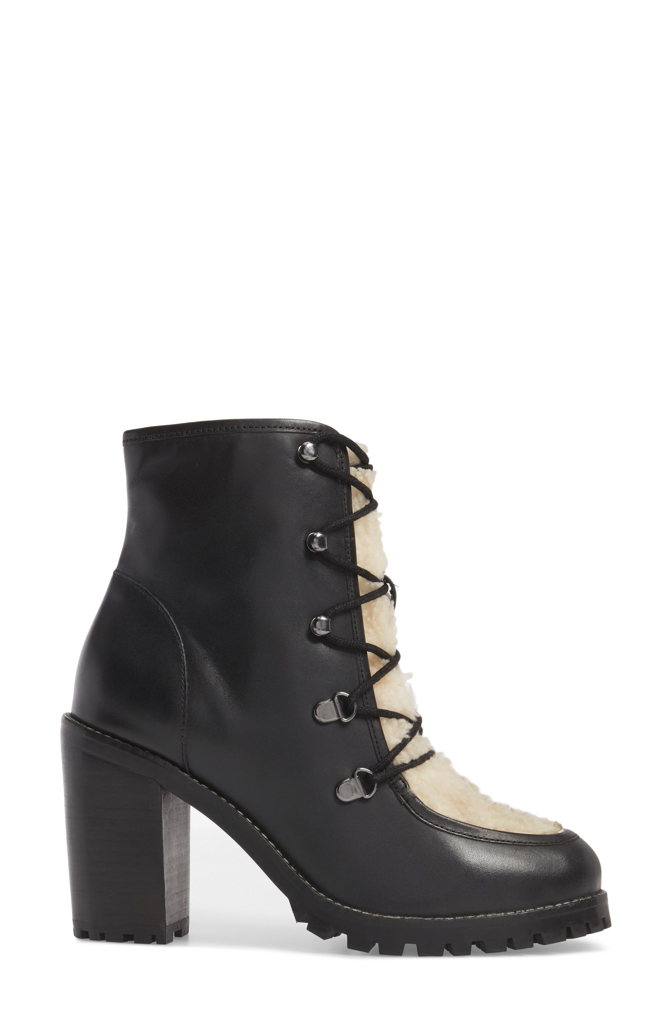 Theater Lace-Up Bootie,                             Alternate thumbnail 3, color,                             001