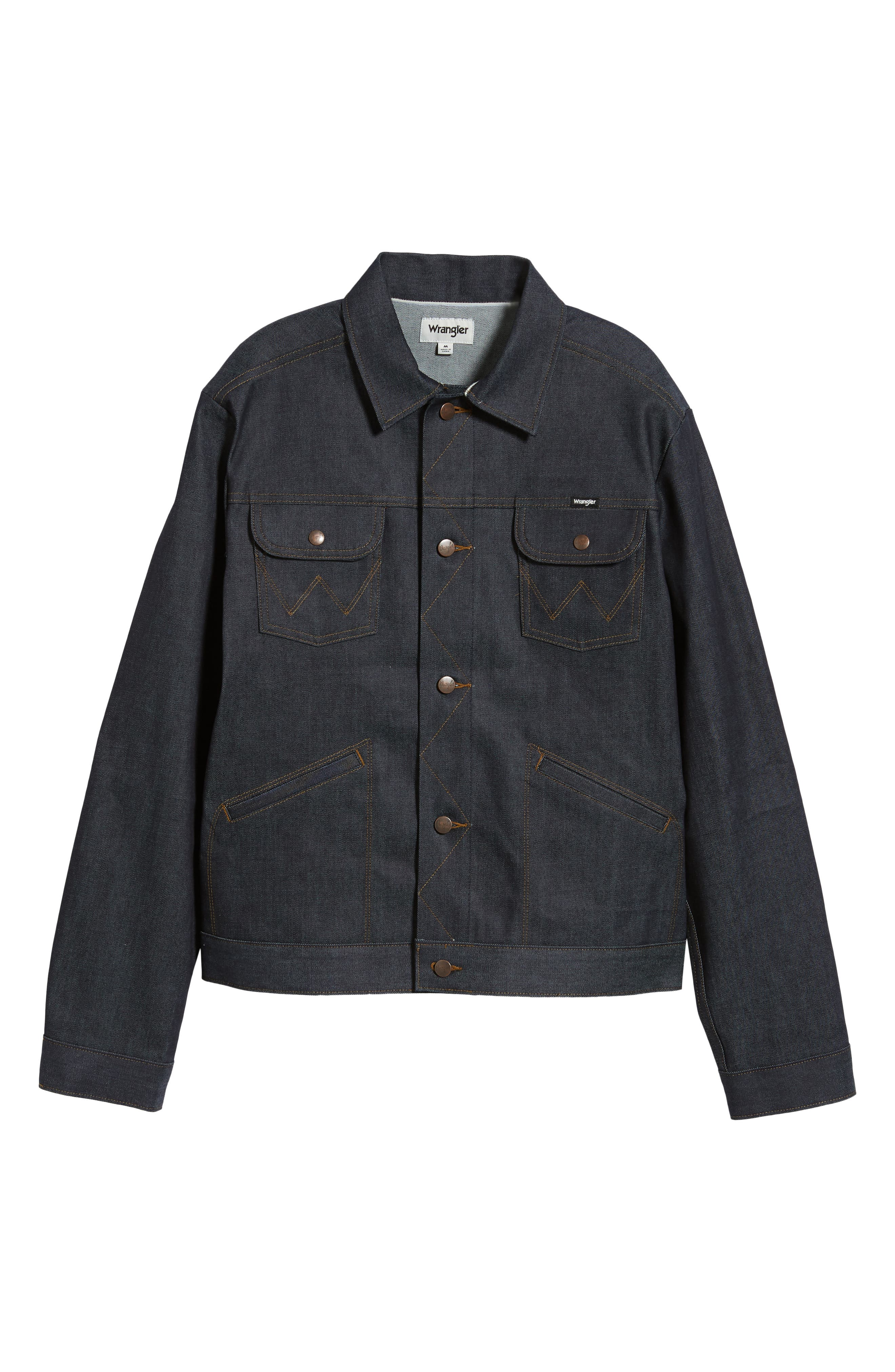 Heritage Denim Jacket,                             Alternate thumbnail 6, color,                             SELEVDGE RAW
