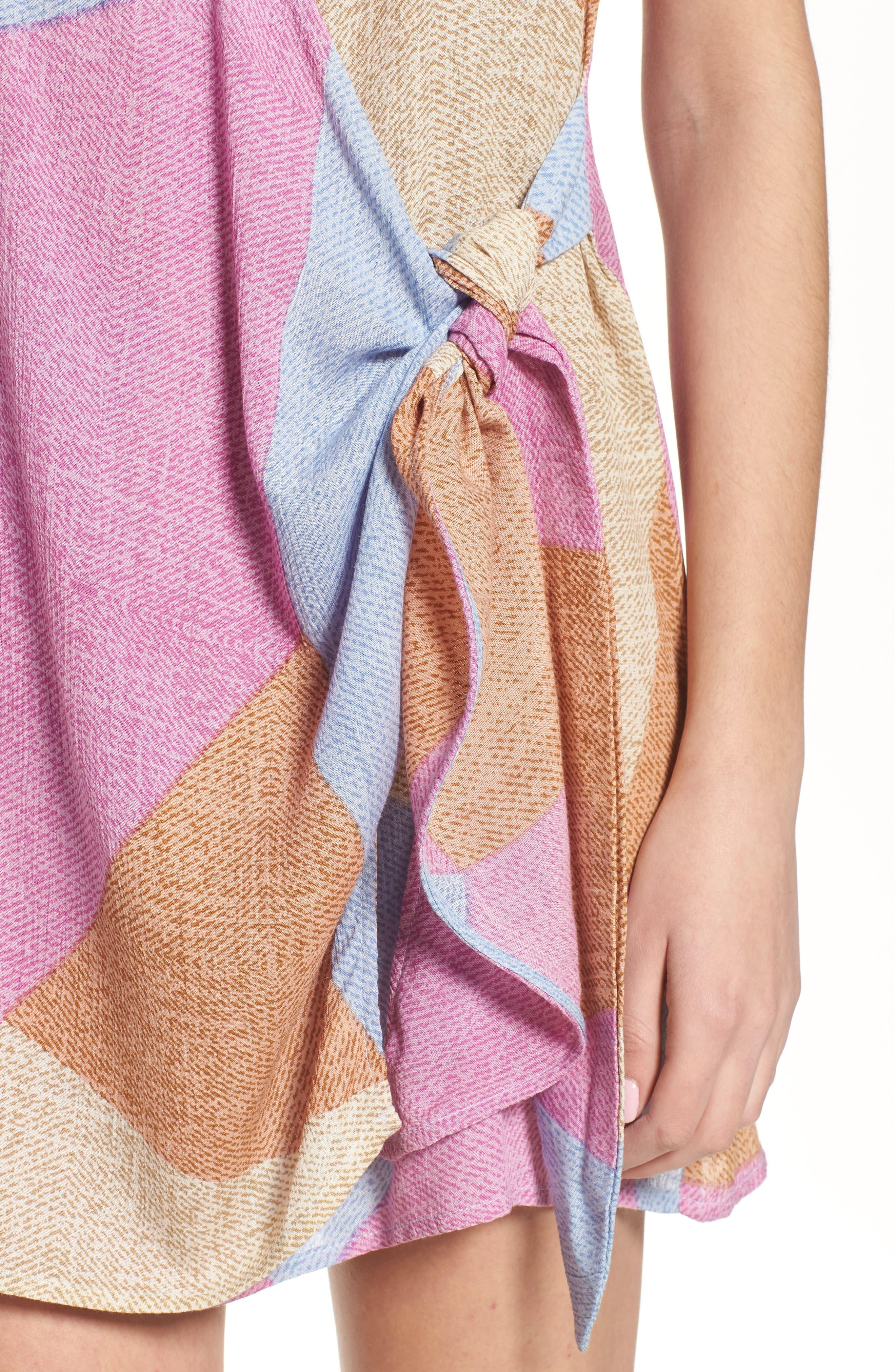 Marlo Wrap Dress,                             Alternate thumbnail 4, color,                             650