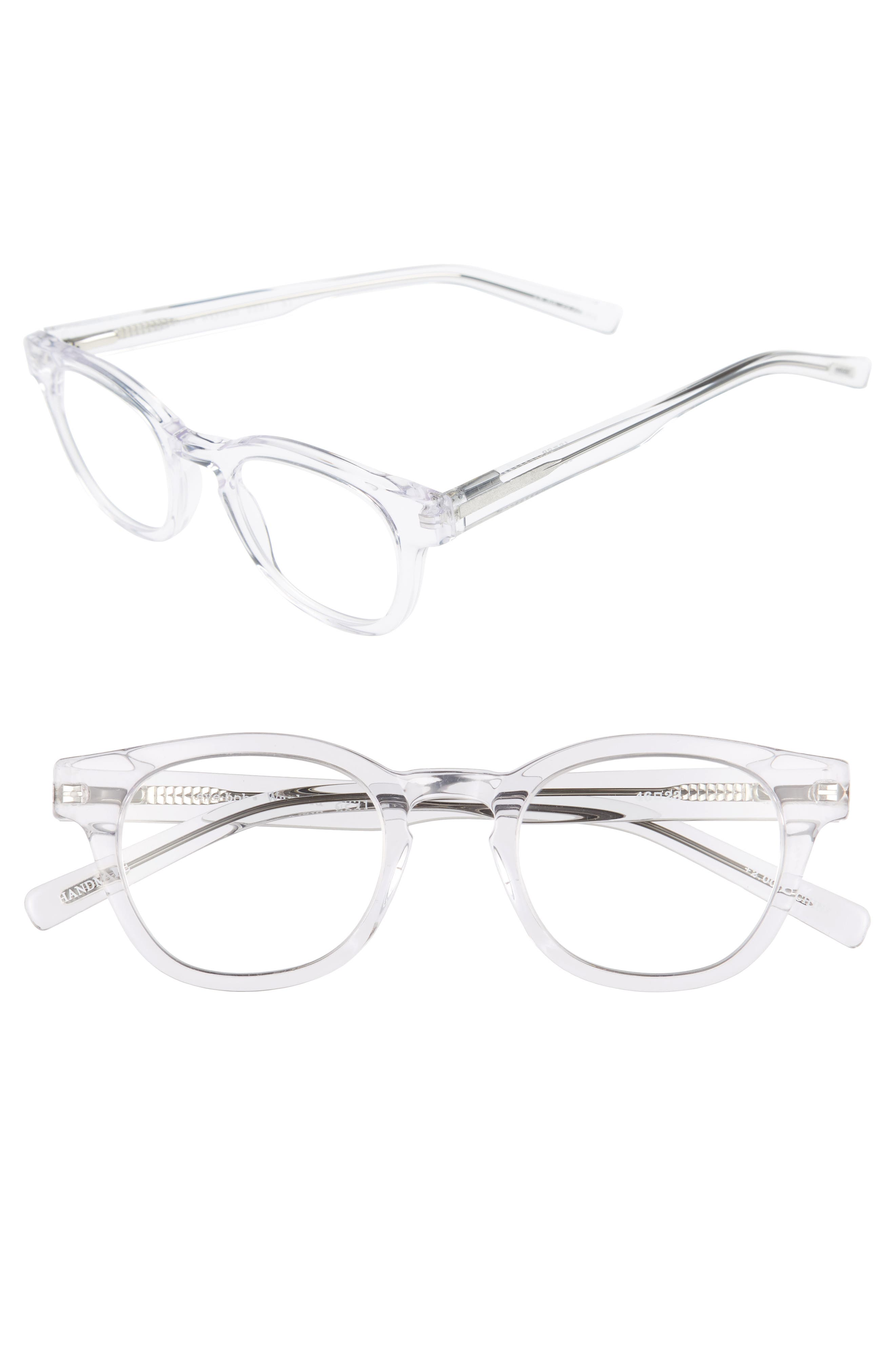 Waylaid 46mm Reading Glasses,                             Main thumbnail 1, color,                             CRYSTAL