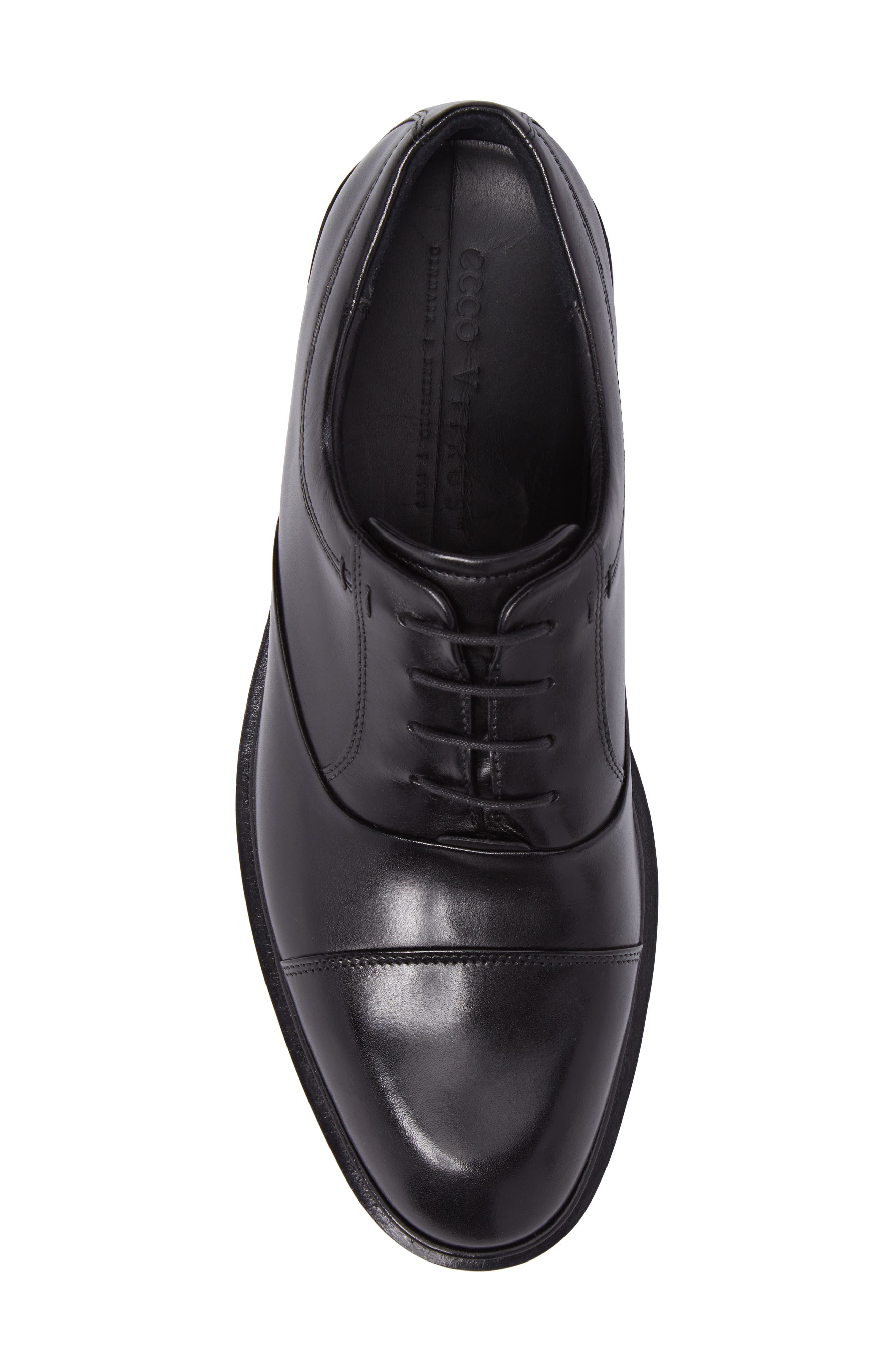 Vitrus II Cap Toe Oxford,                             Alternate thumbnail 5, color,                             BLACK LEATHER