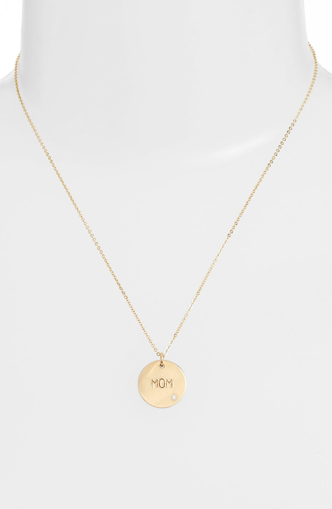 Diamond Pendant Necklace,                             Alternate thumbnail 7, color,
