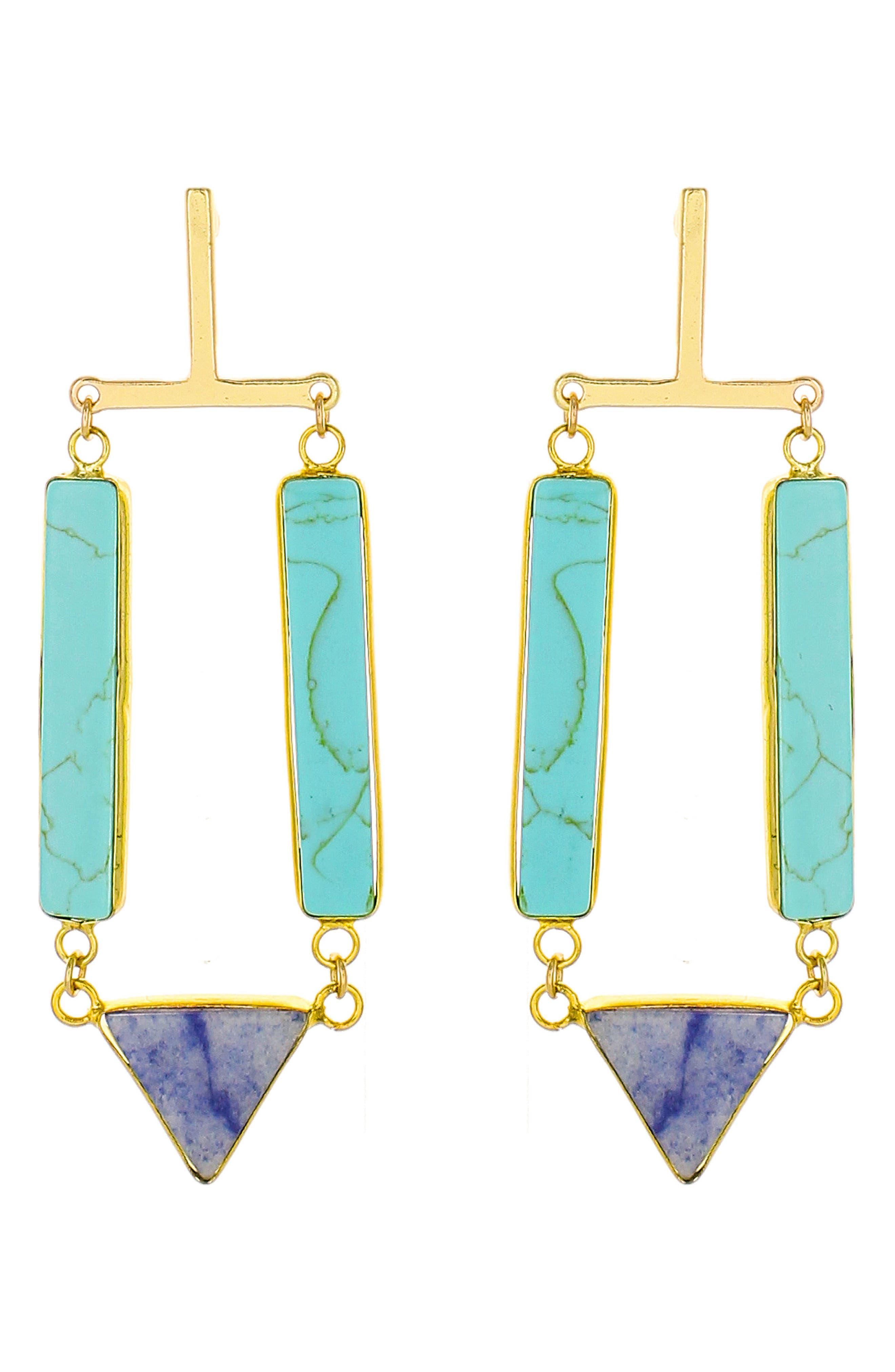 Stone Drop Earrings,                         Main,                         color, 400