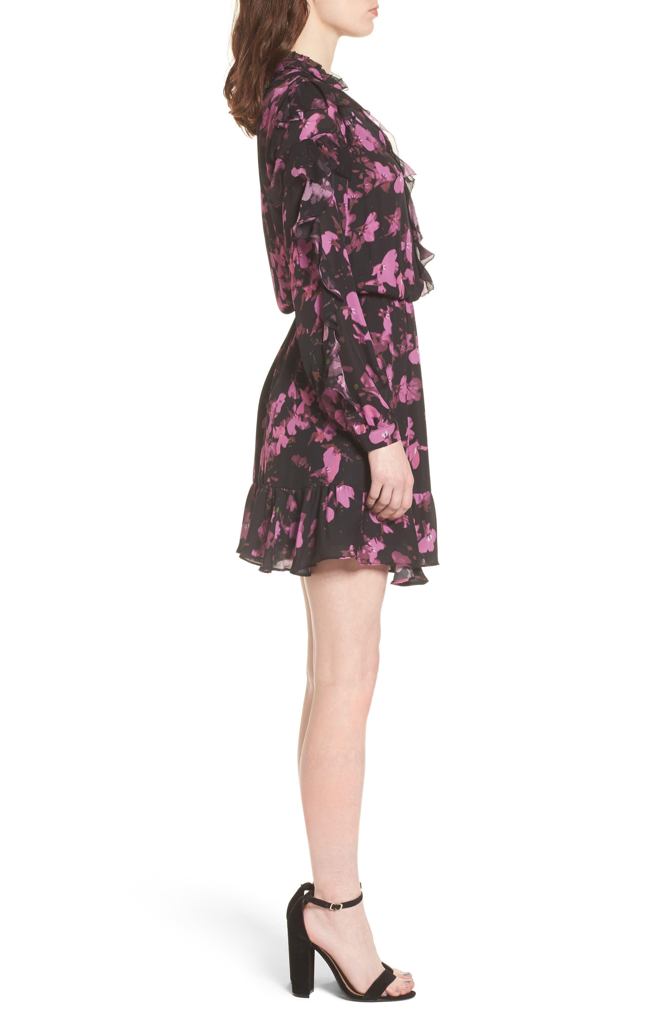Zinnia Ruffle Silk Dress,                             Alternate thumbnail 3, color,