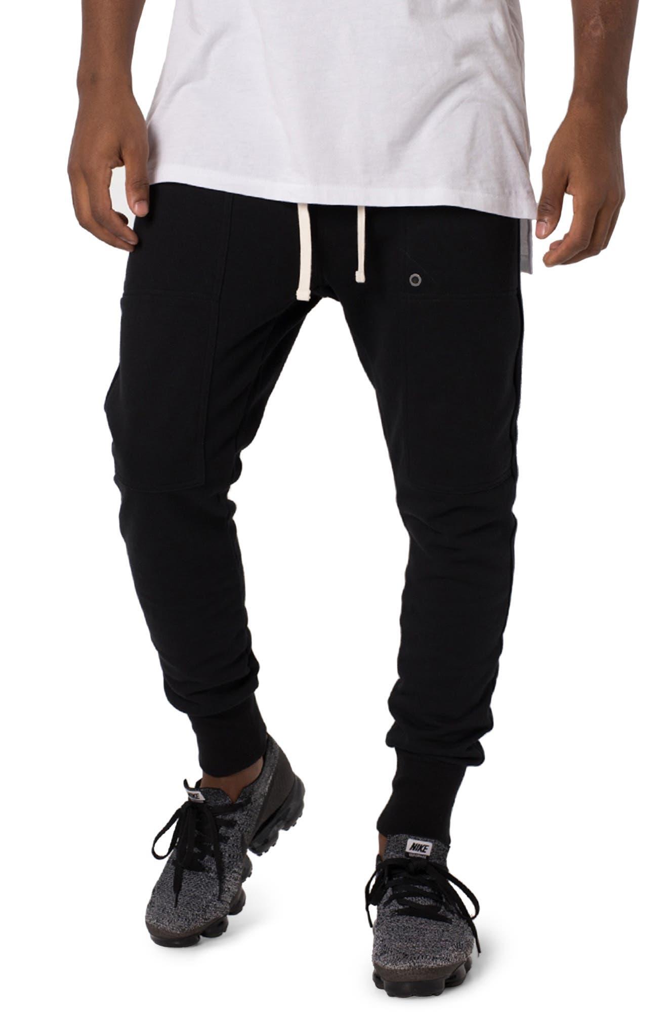 Blockshot Fleece Jogger Pants, Main, color, BLACK