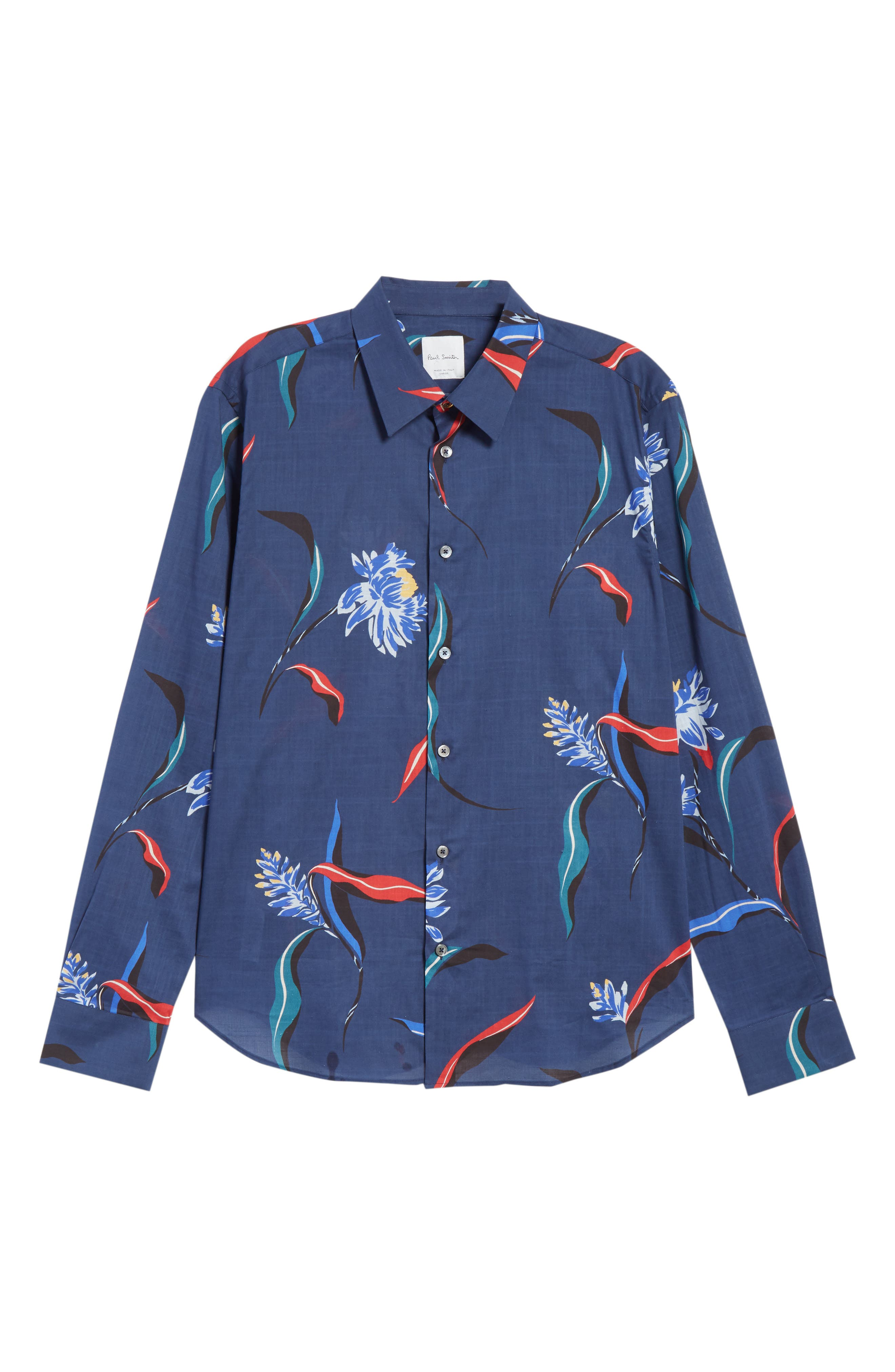 Floral Woven Shirt,                             Alternate thumbnail 6, color,                             415