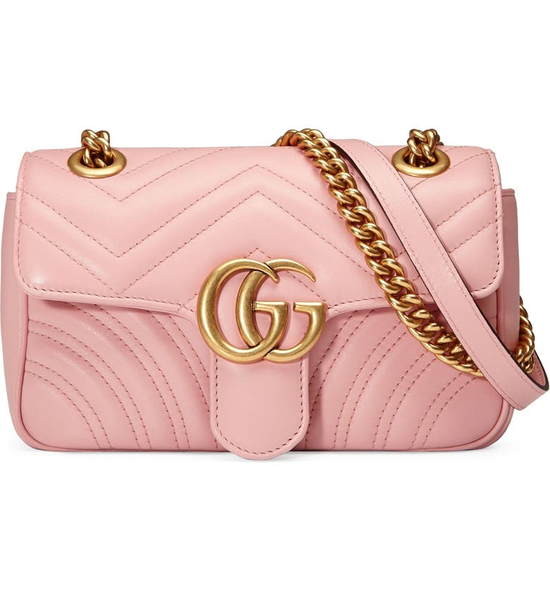 3bd94117e4ca50 Gucci Mini Gg Marmont 2.0 Matelasse Leather Shoulder Bag - Pink In Perfect  Pink/ Perfect