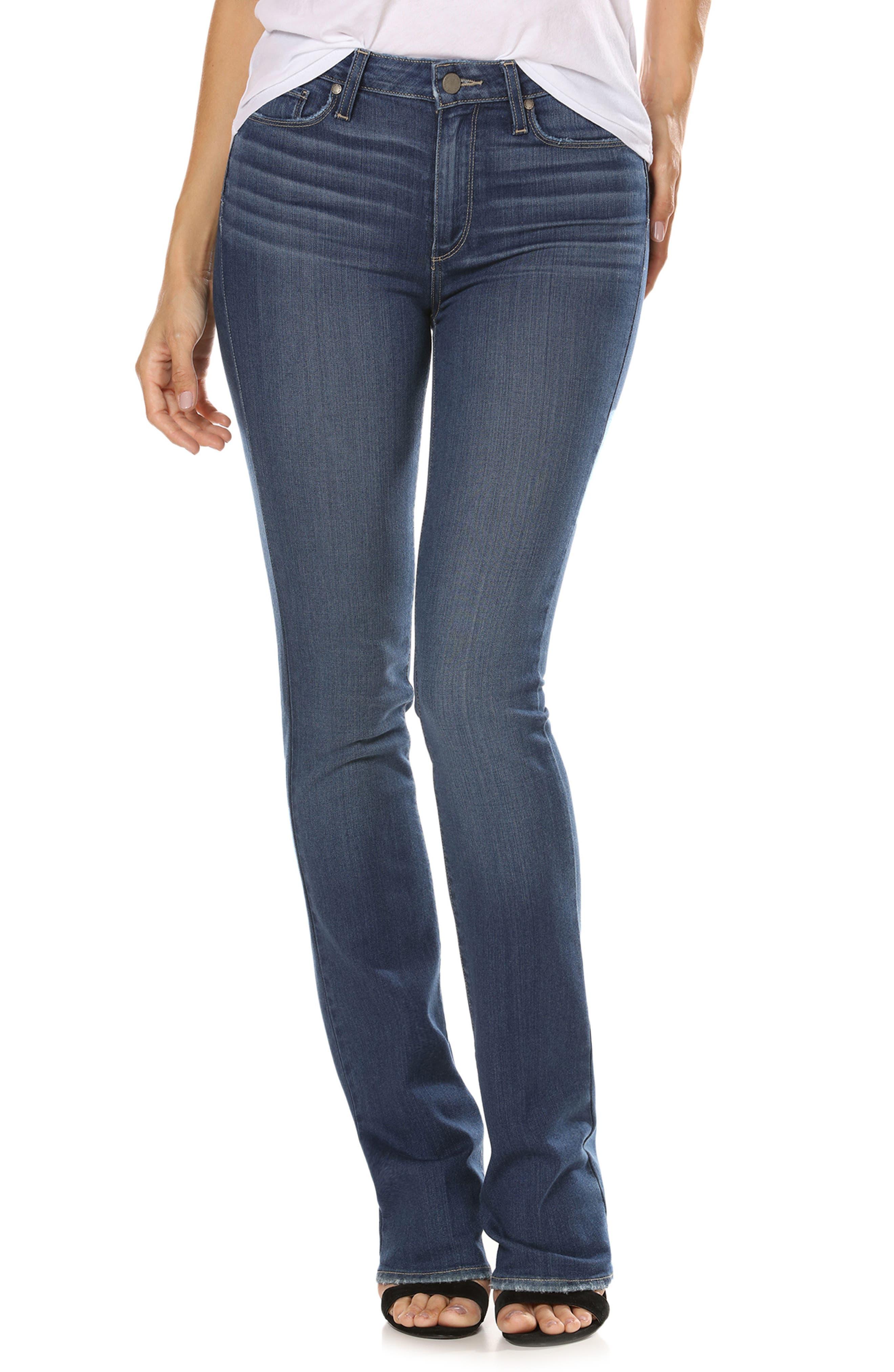 Transcend - Manhattan High Waist Bootcut Jeans,                             Main thumbnail 1, color,                             400