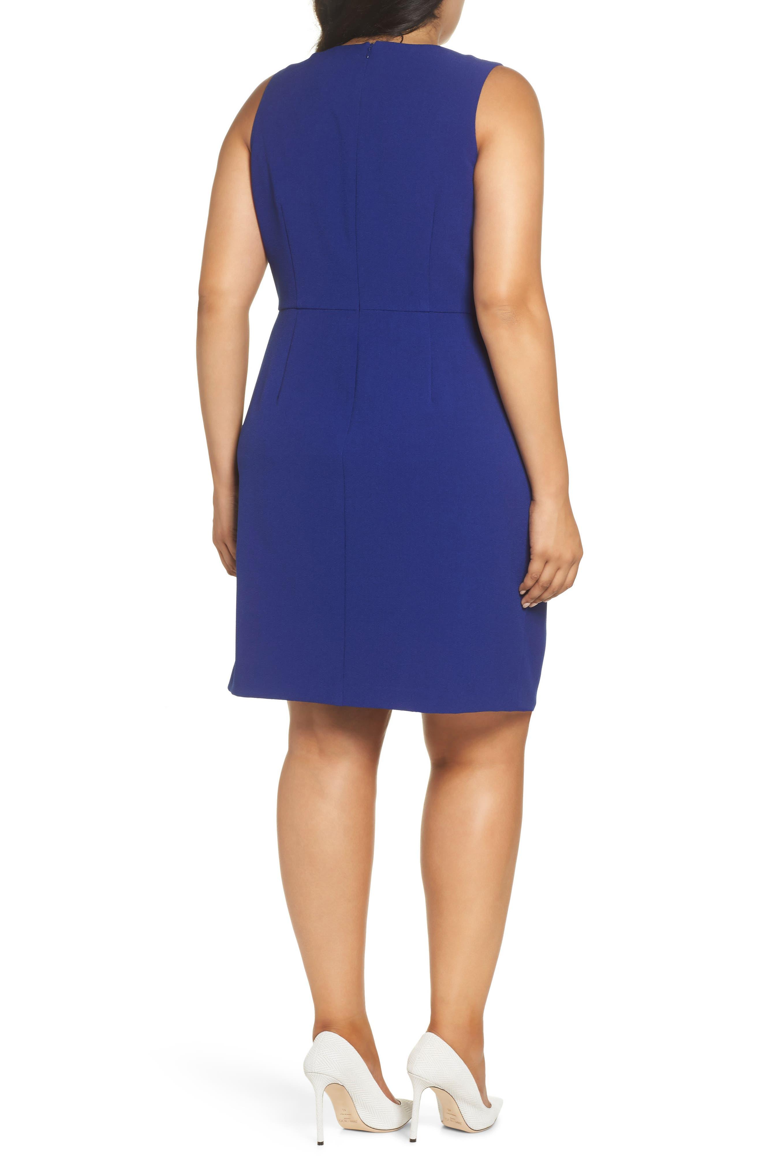 Faux Wrap Dress,                             Alternate thumbnail 2, color,                             COBALT
