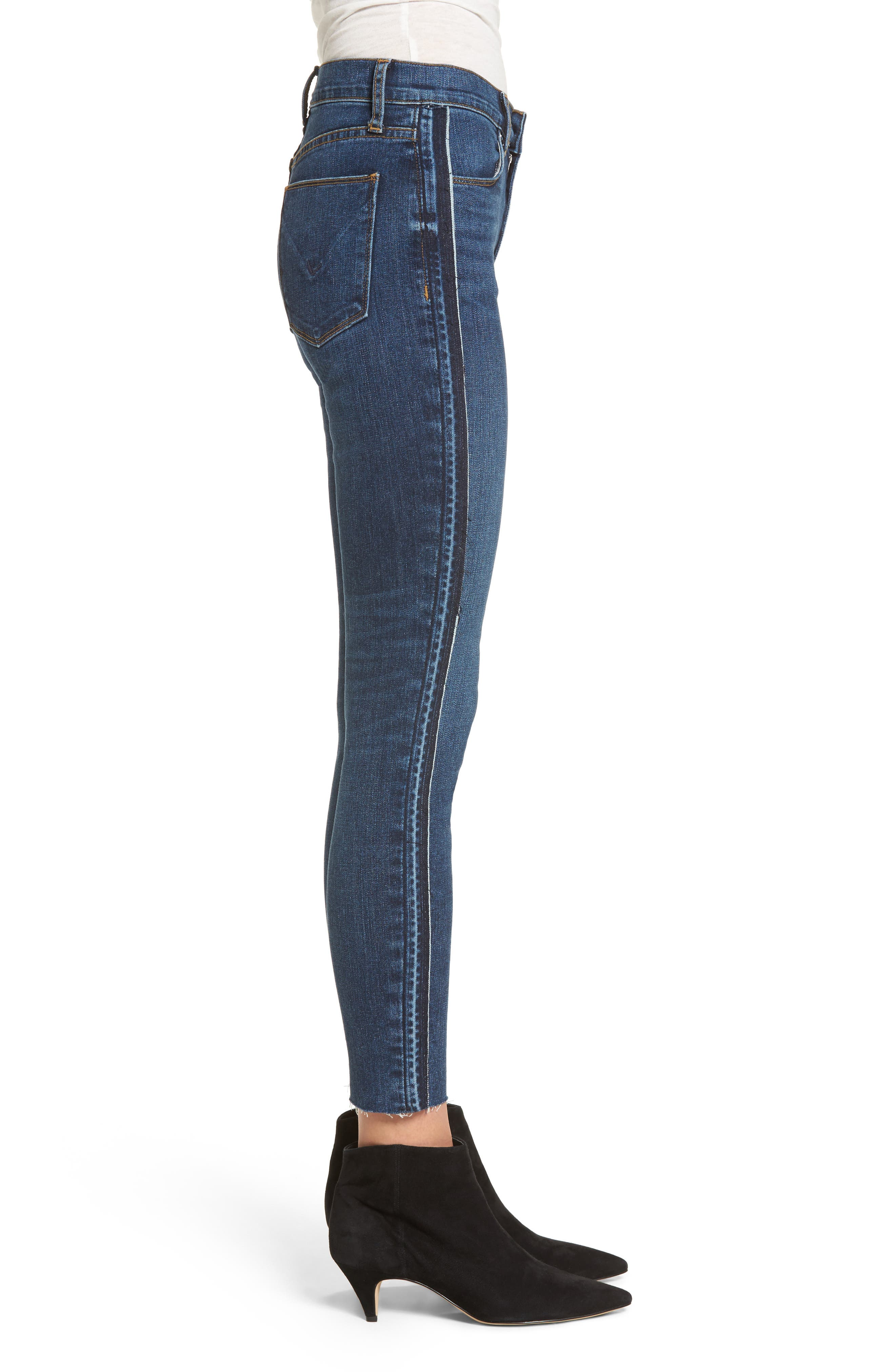 Barbara High Waist Super Skinny Jeans,                             Alternate thumbnail 3, color,                             400
