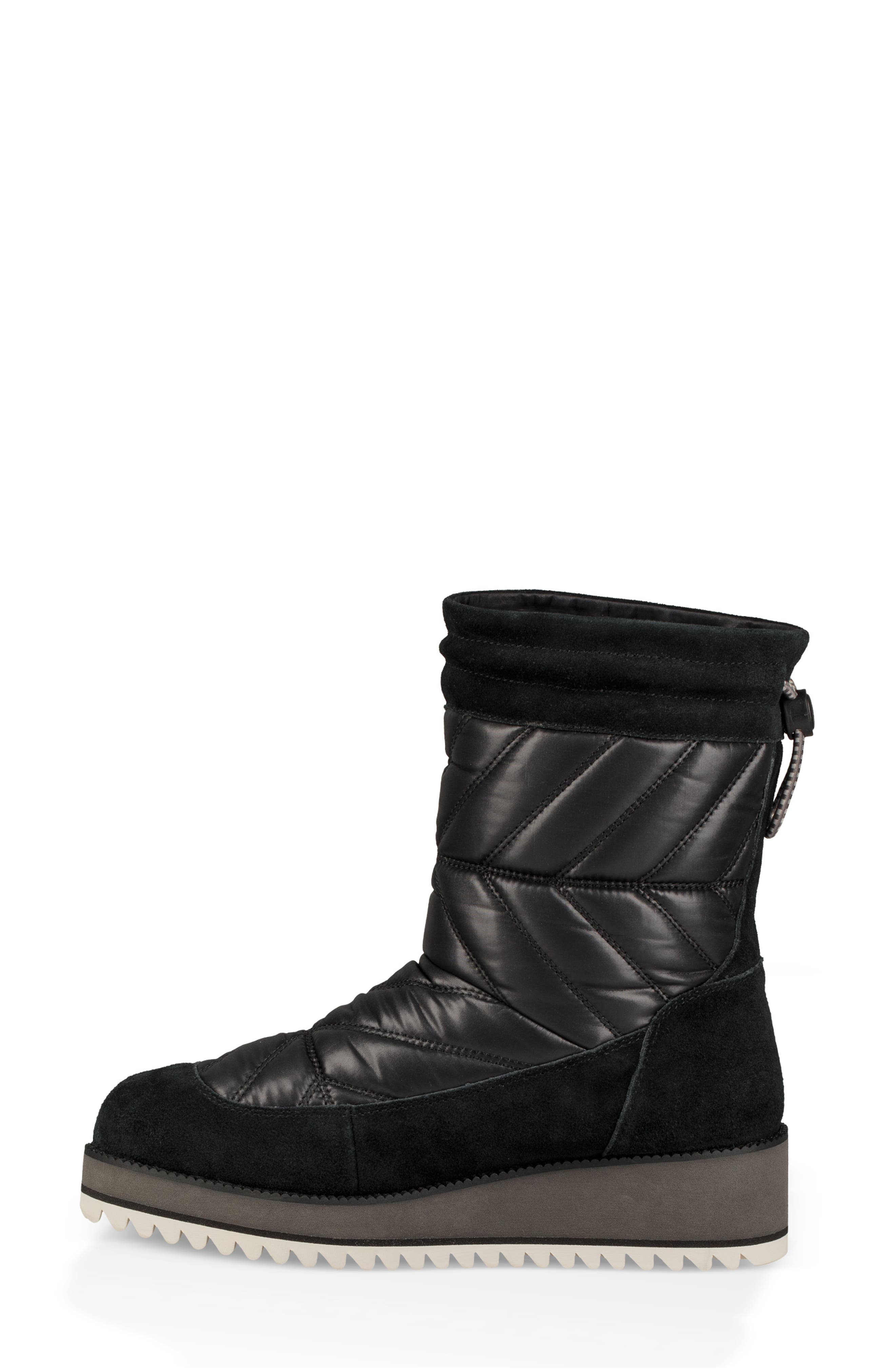 Beck Waterproof Quilted Boot,                             Alternate thumbnail 6, color,                             BLACK